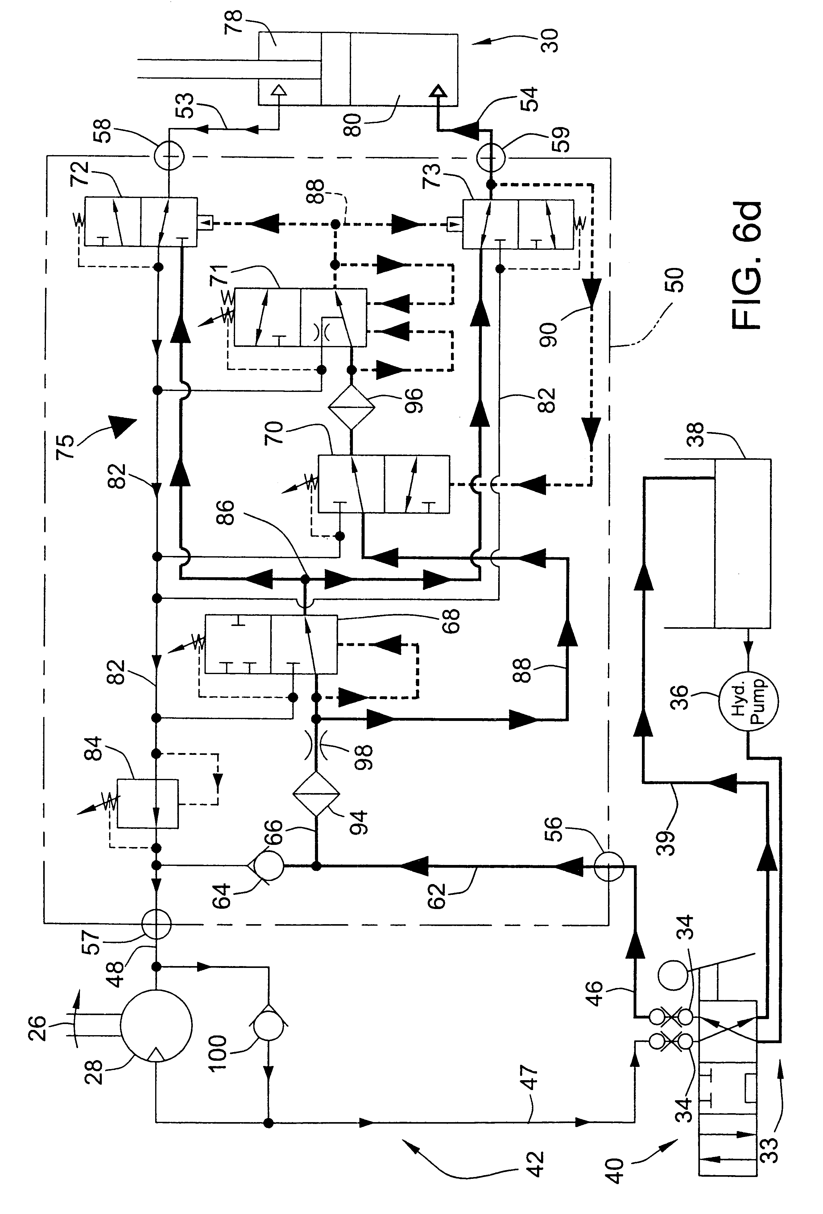 patent us6354081 attachment for skid steer loader or other patent drawing