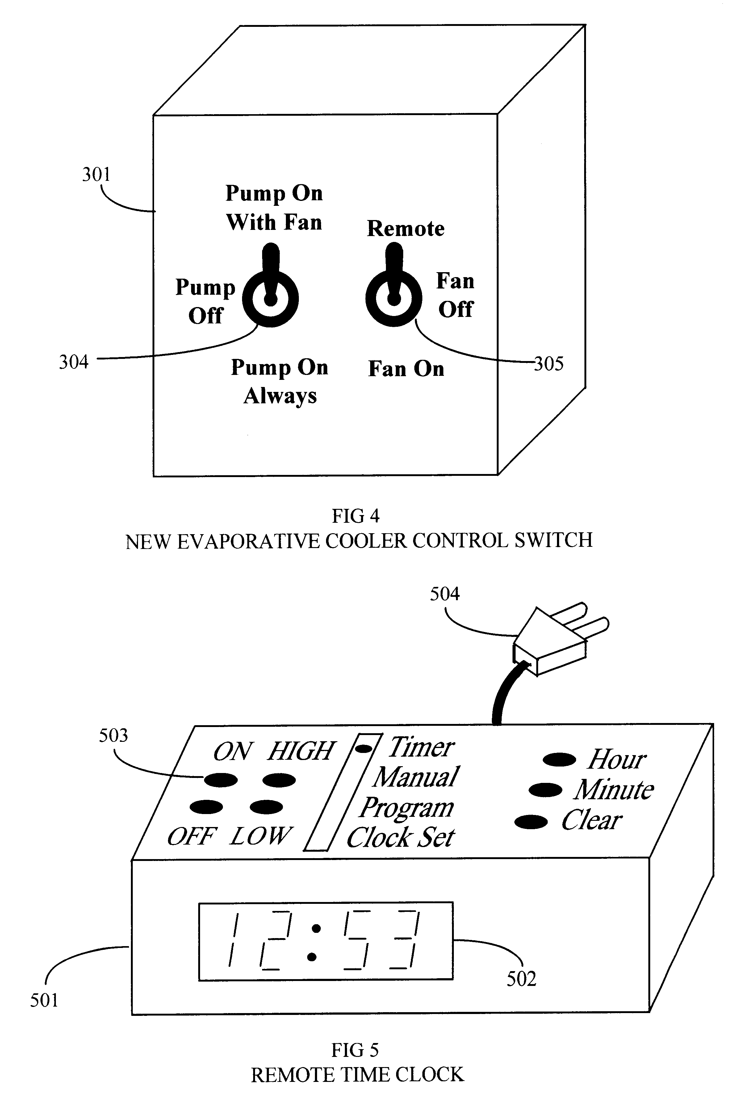 patent us remote control system for evaporative coolers patent drawing