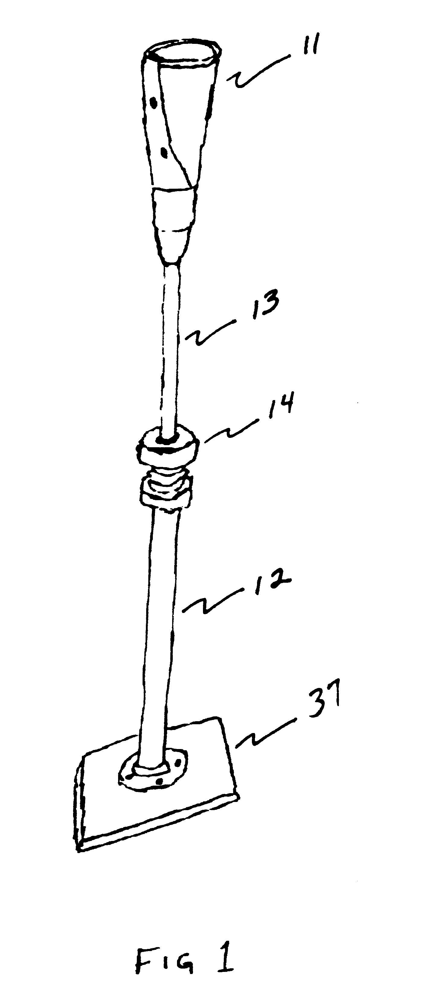 patent us6358163 - durable batting tee for baseball