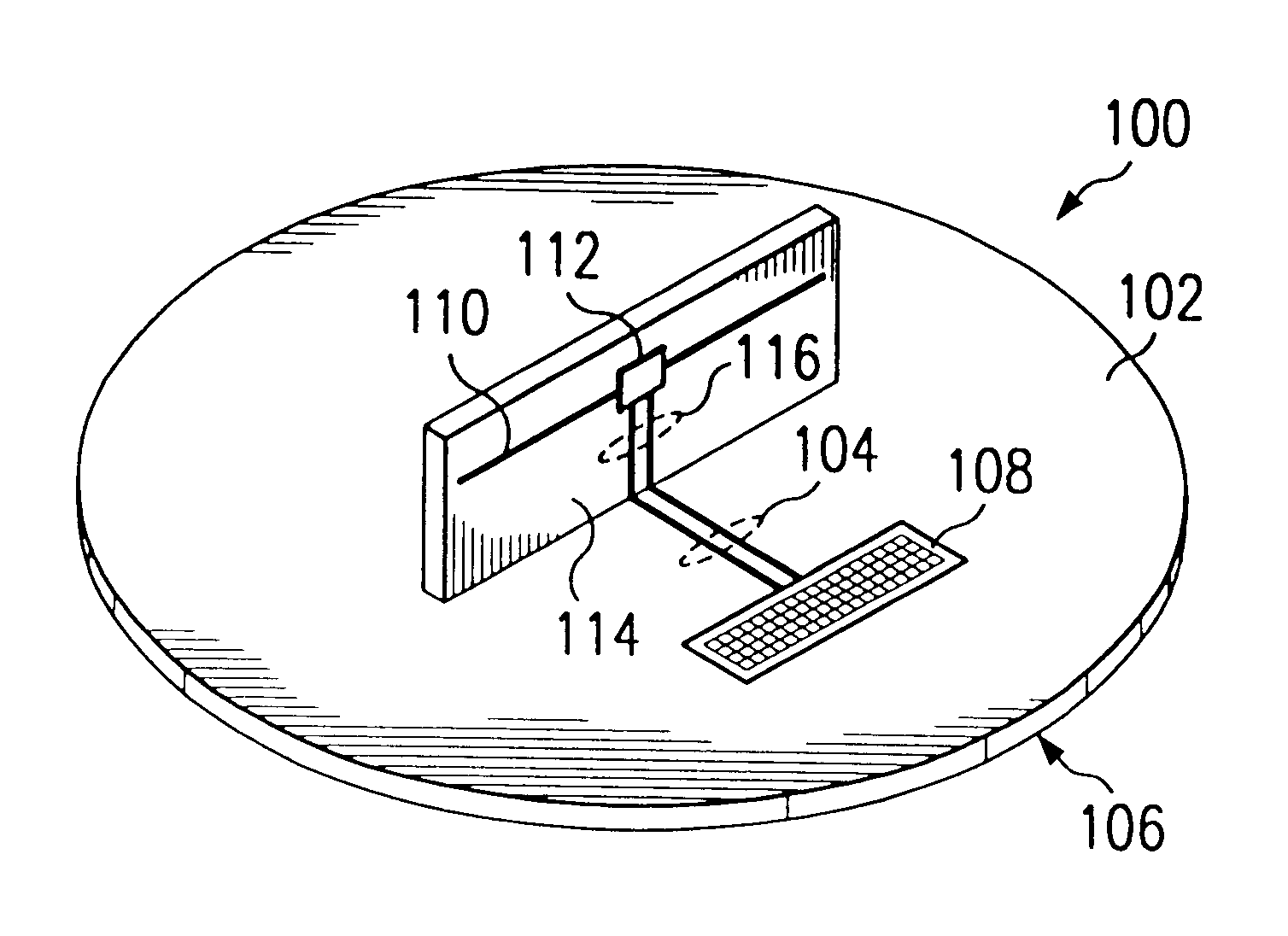 patent us6359596 - integrated circuit mm-wave antenna structure