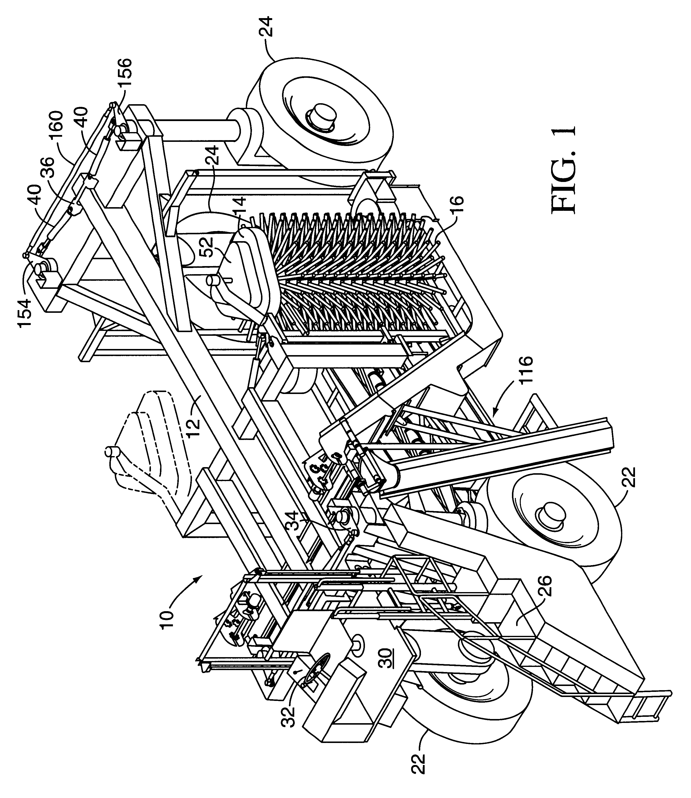 Patente Us6360518 Automatically Adjusting Shaker Head Harvester Cadillac Wiring Diagram Free Download Schematic Patent Drawing
