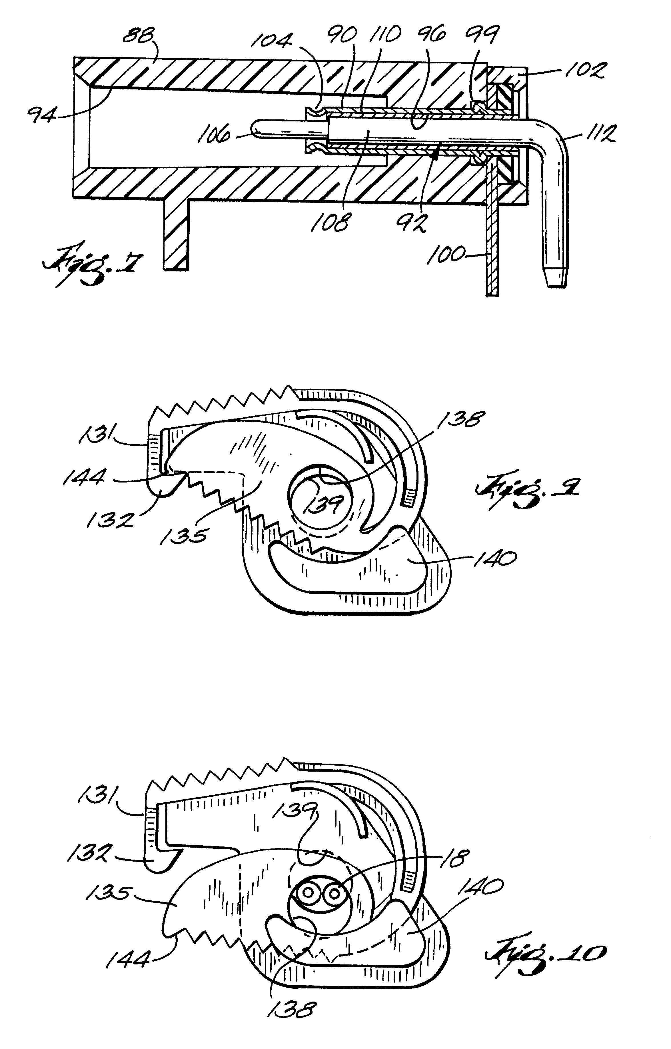 patent us6363272 - connector for fetal probe