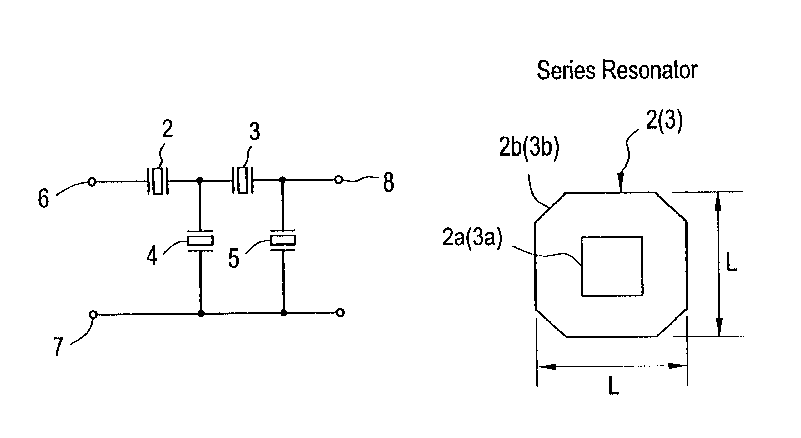 Brevet Us6366182 Ladder Type Piezoelectric Filter Having A Of Circuit Patent Drawing