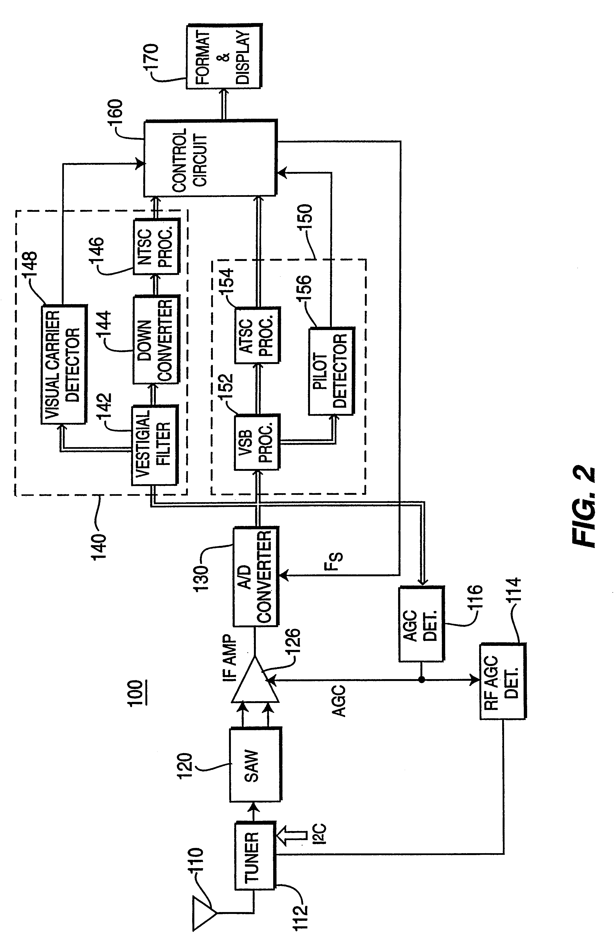 Patent Us6369857 Receiver For Analog And Digital Television 5mhz Notch Filter Circuit Diagram Electronic Diagrams Drawing