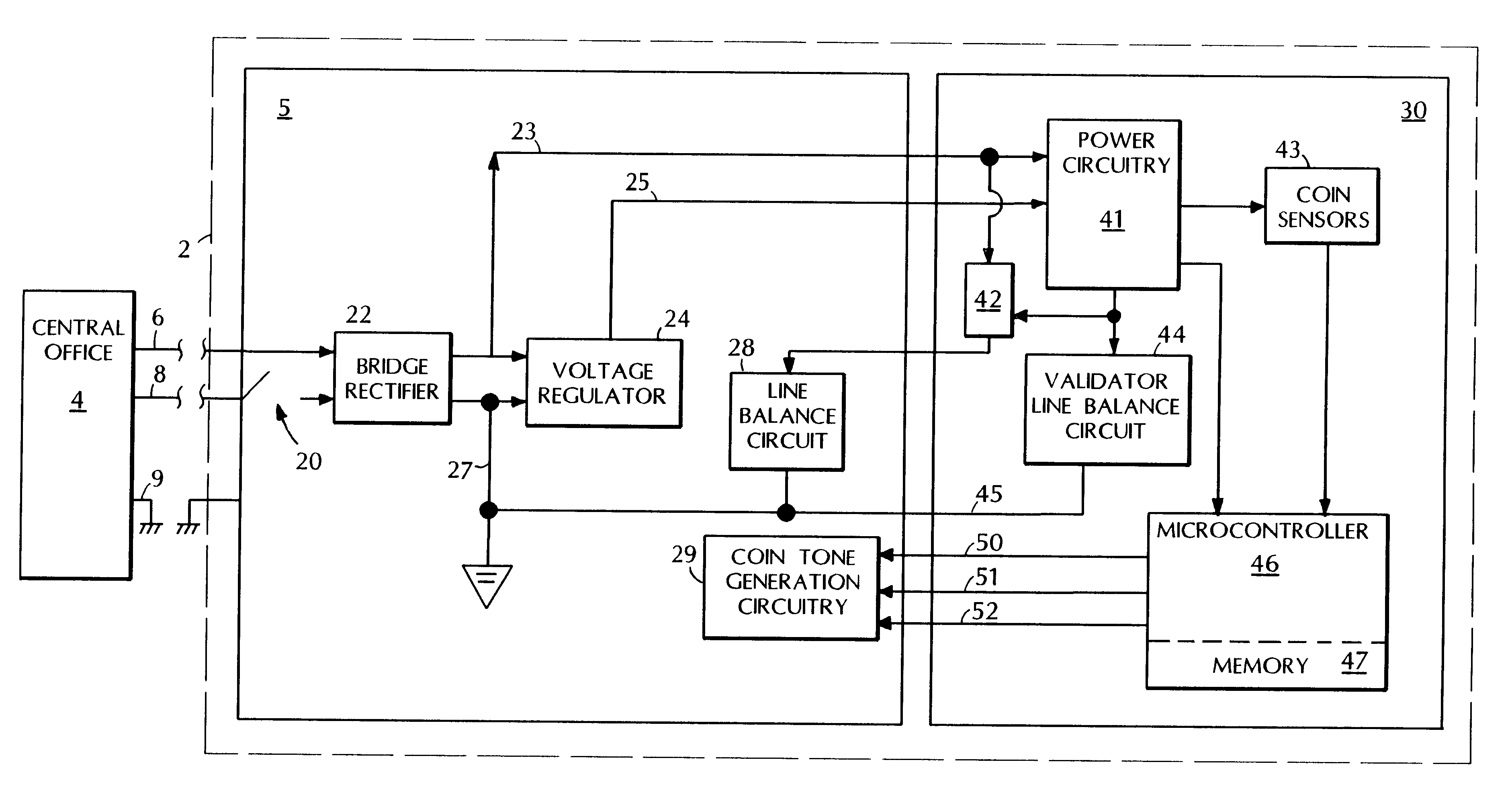 US06370242 20020409 D00000 patent us6370242 payphone electronic coin validator google patents Transducer Wiring-Diagram at mr168.co