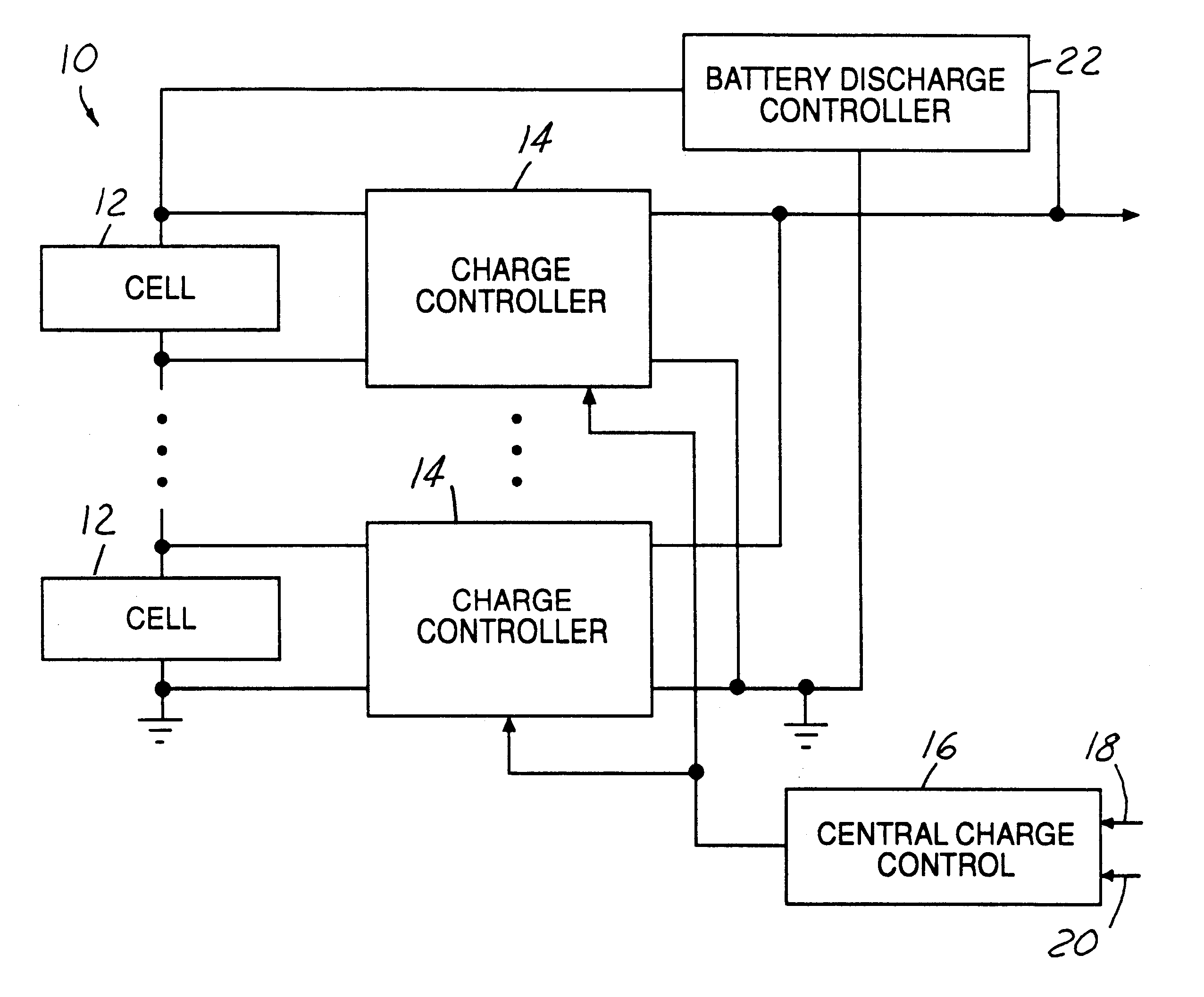 Patent Us6377024 Method And System For Charge Equalization Of Circuit Diagram This Lithium Battery Charger Is Dedicated To Drawing