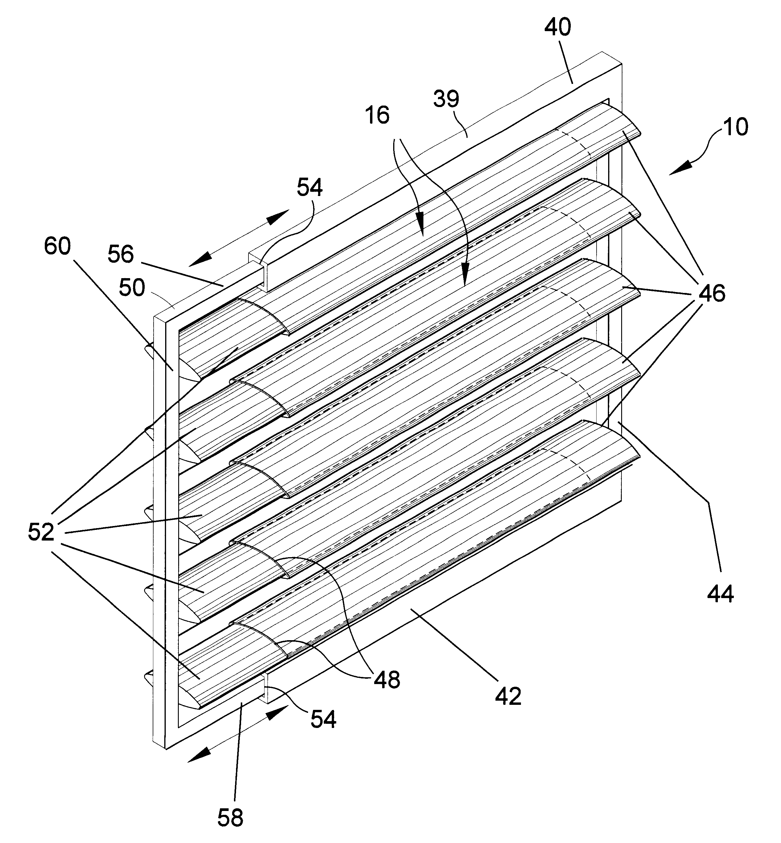 Patent US Telescoping louvered window insert Google Patents