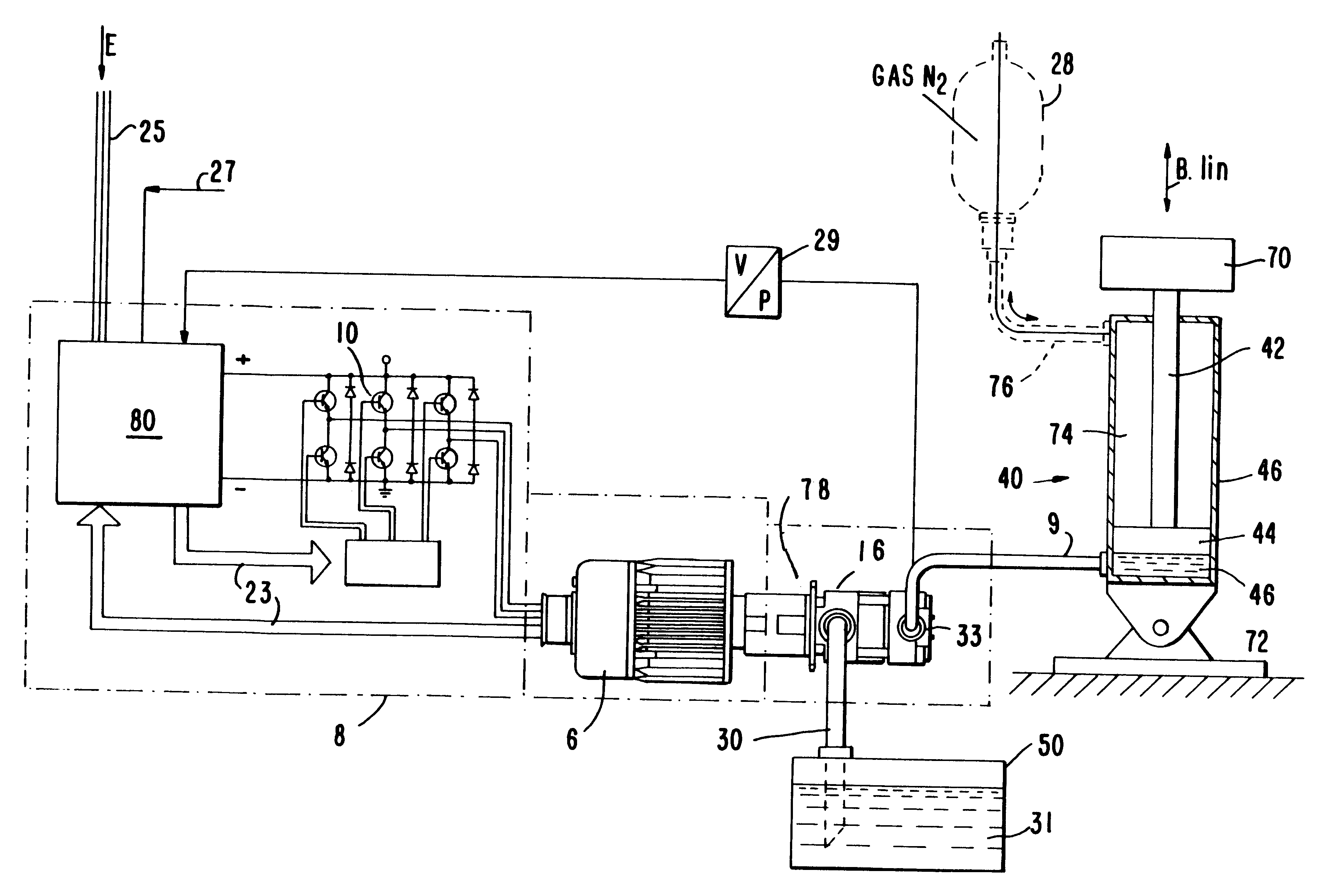 patent us6379119 - hybrid electric and hydraulic actuation system