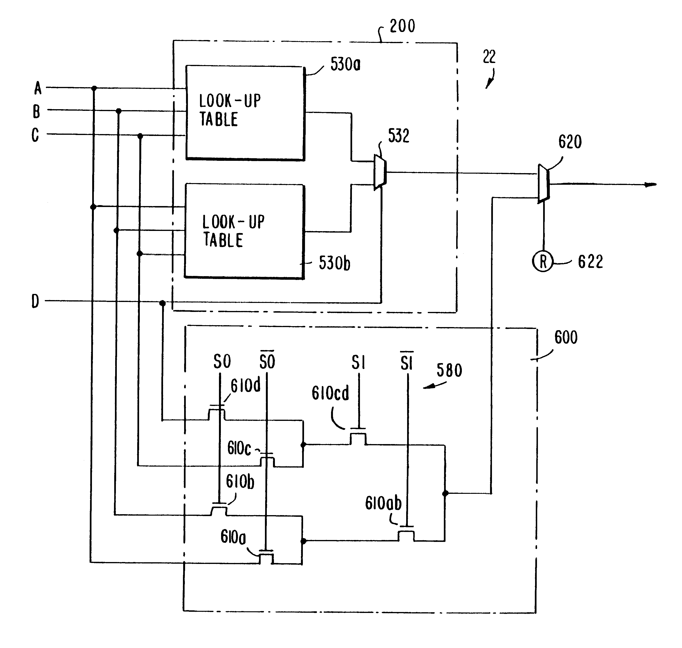 Patent Us6384625 Programmable Logic Devices With Enhanced Diagram Multiplexer Drawing