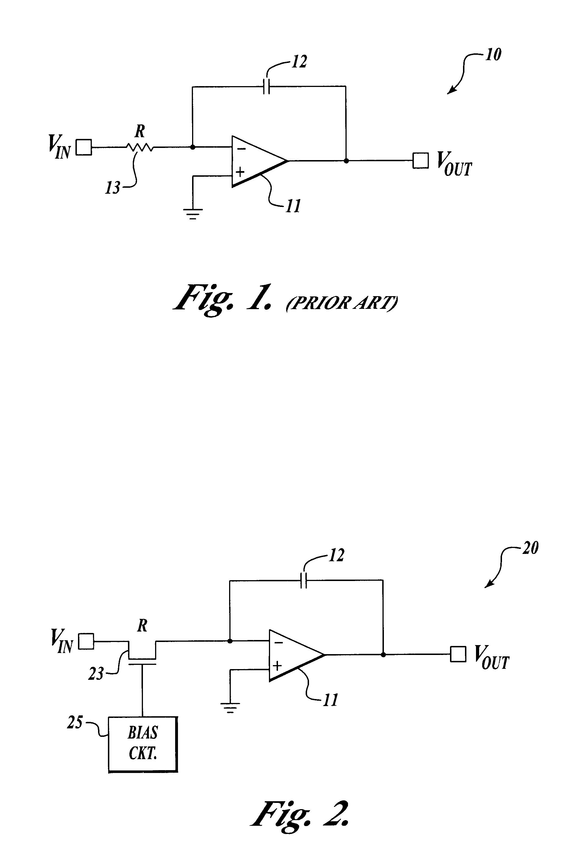 Patent Us6392465 Sub Threshold Cmos Integrator Google Patents Rc Circuit Drawing