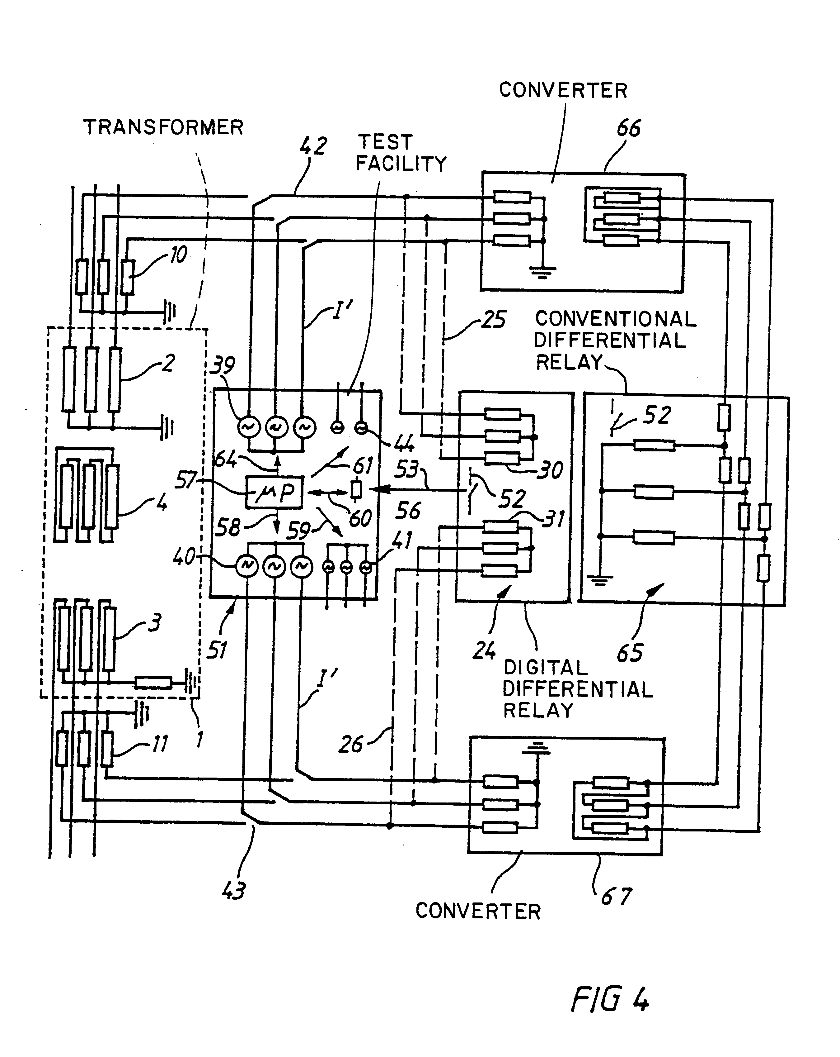 Patent US Method And Device For Testing Differential - Differential relay wiring diagram
