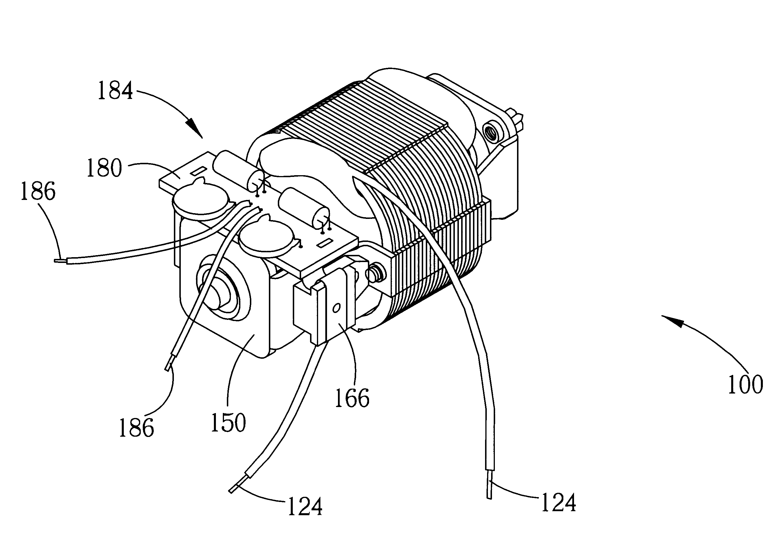 patent us universal motor reduced emi patent drawing