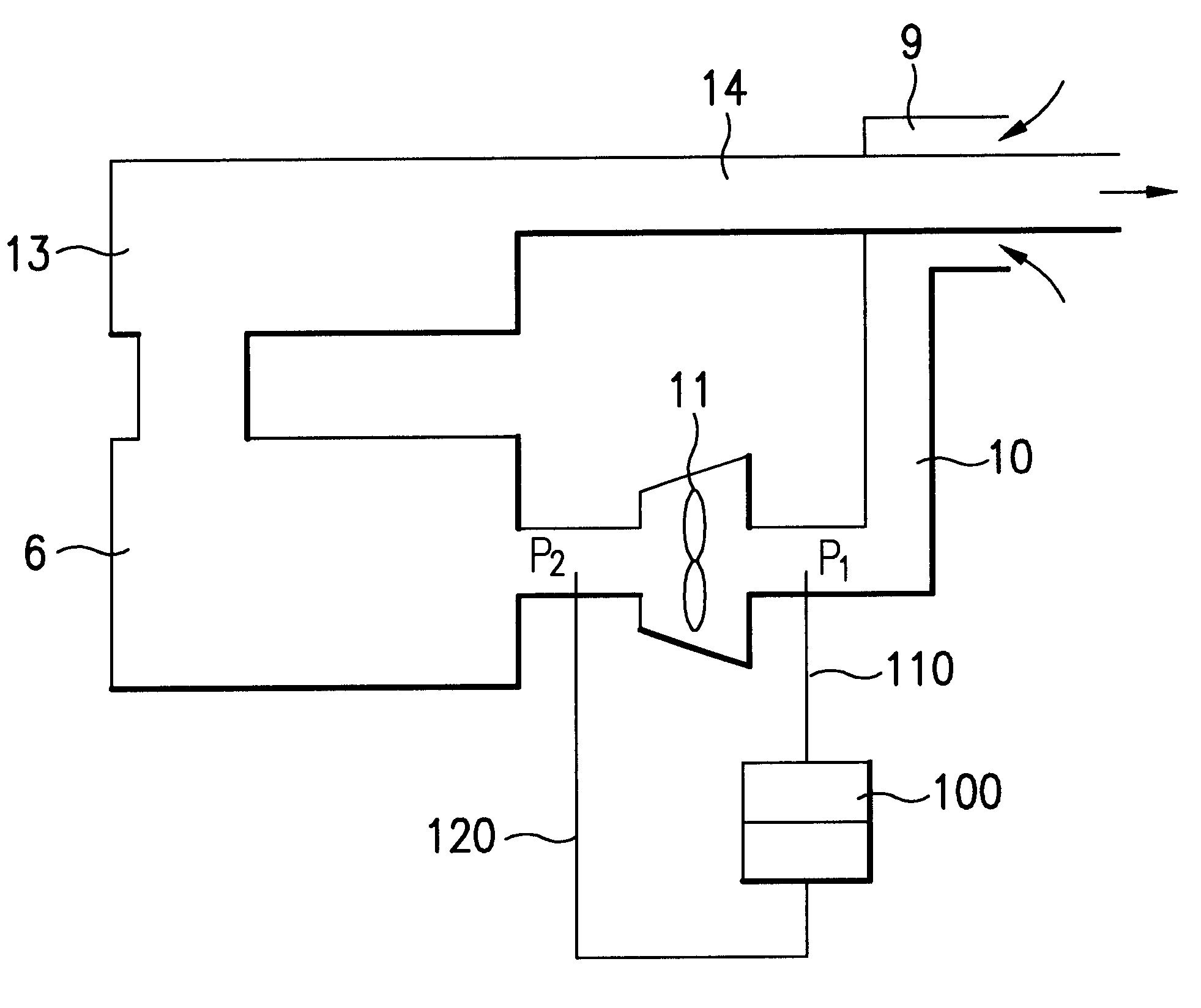 Patente Us6401708 Pressure Sensing Device In Gas Furnace And Exhausto Fan Wiring Schematic Patent Drawing