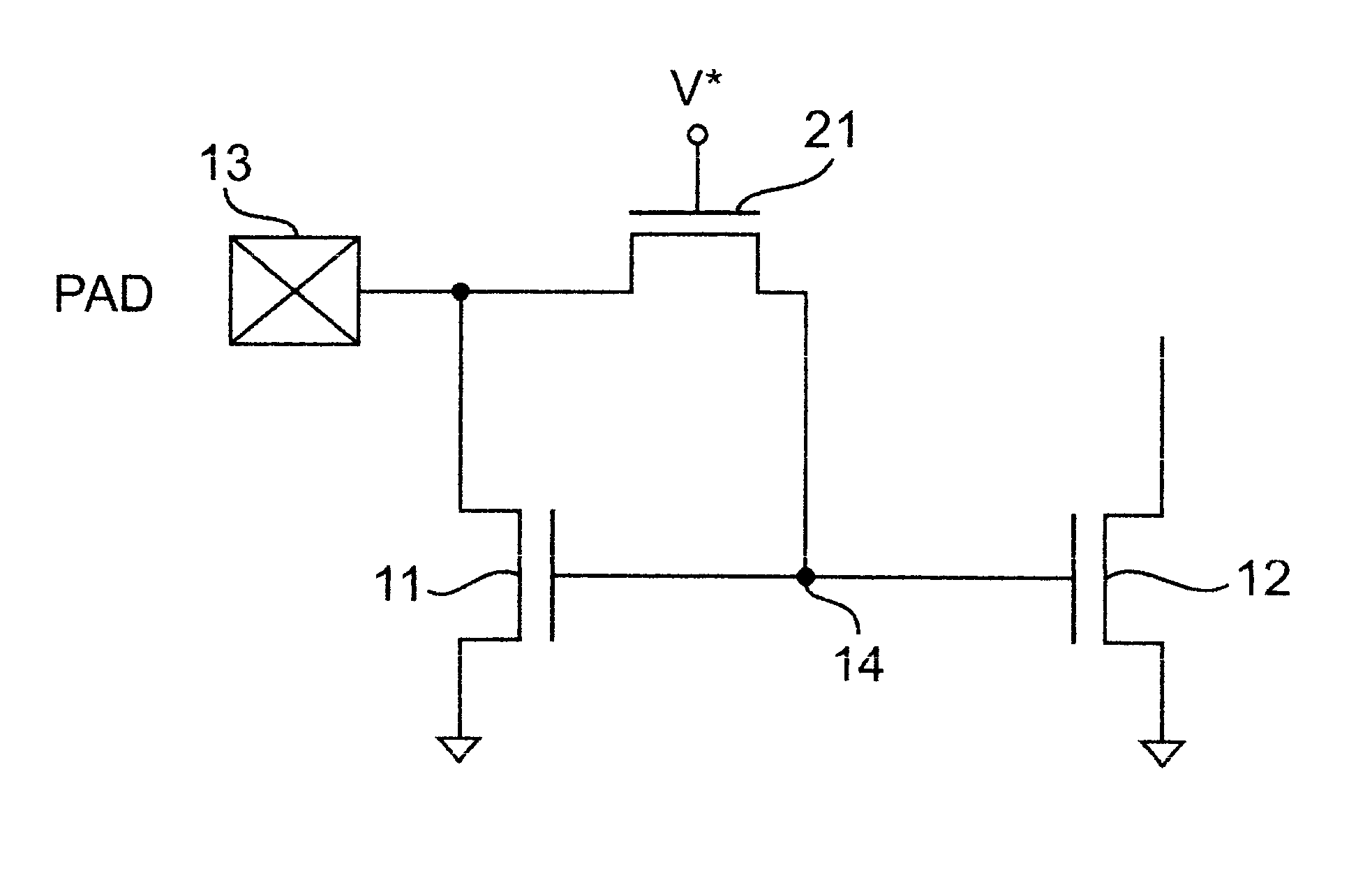 circuit diagram of mirror constant current source