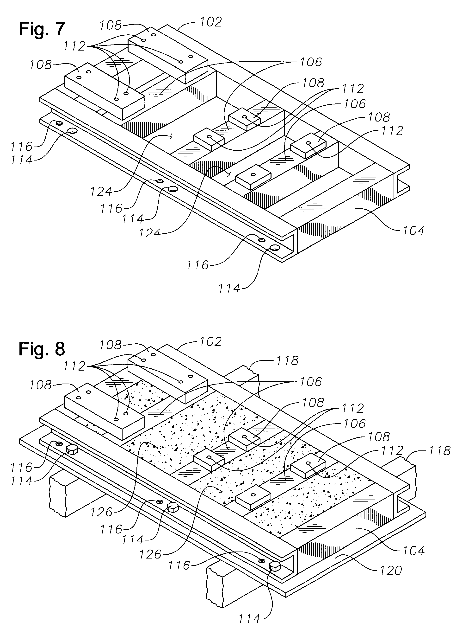 Patent us6405992 pregrouted baseplate for supporting for Motor base plate design