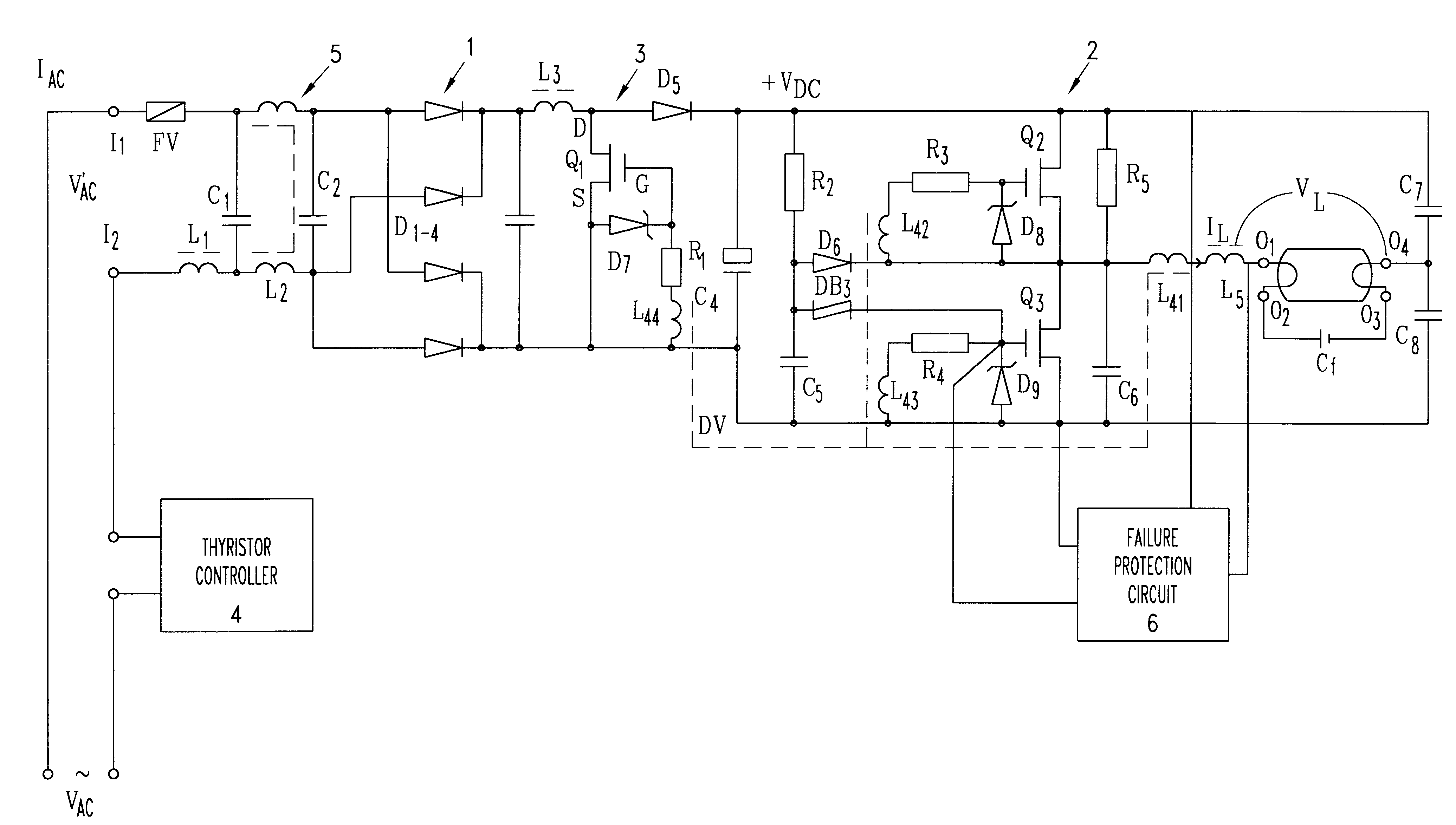 Patent Us6407511 Electronic Ballast Suitable For Lighting Control Dimmable Circuit Dimming Feature Included Drawing