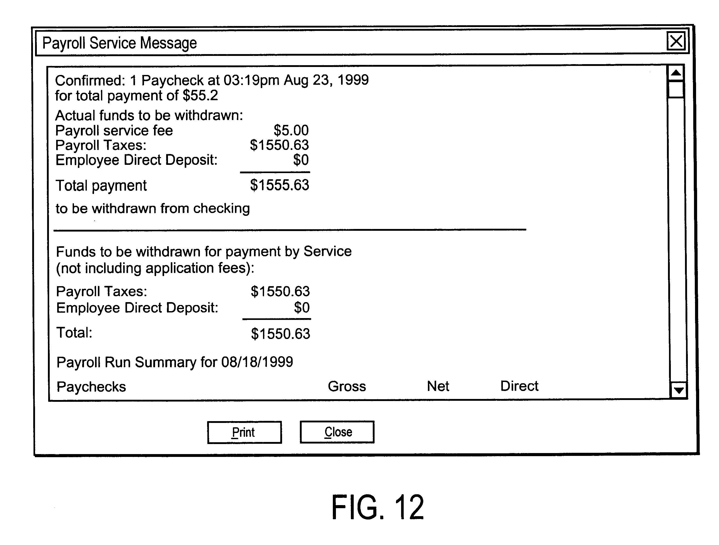 Patent US6411938 - Client-server online payroll processing ...