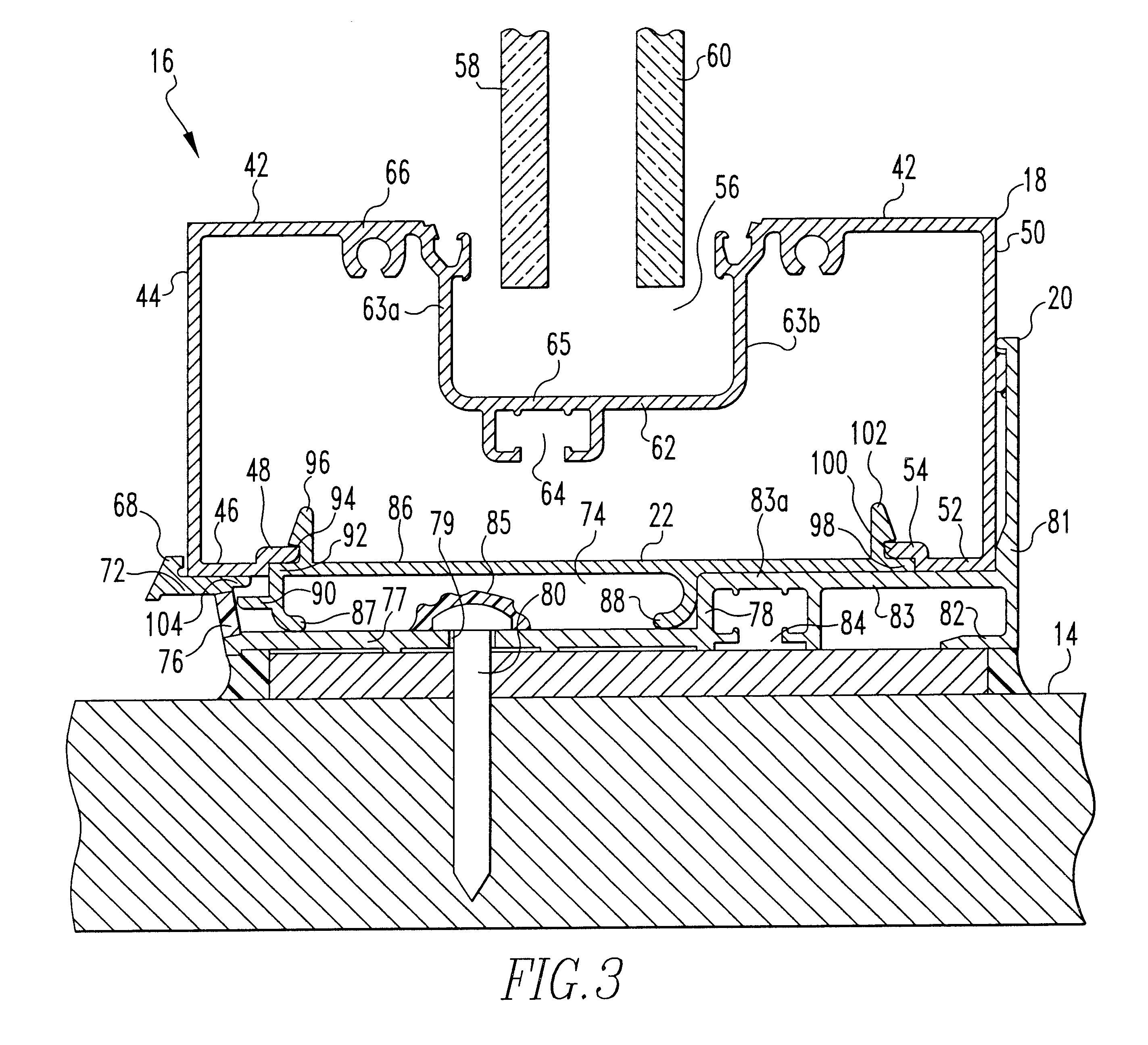 Patent Us6412240 High Performance Flashing Assembly