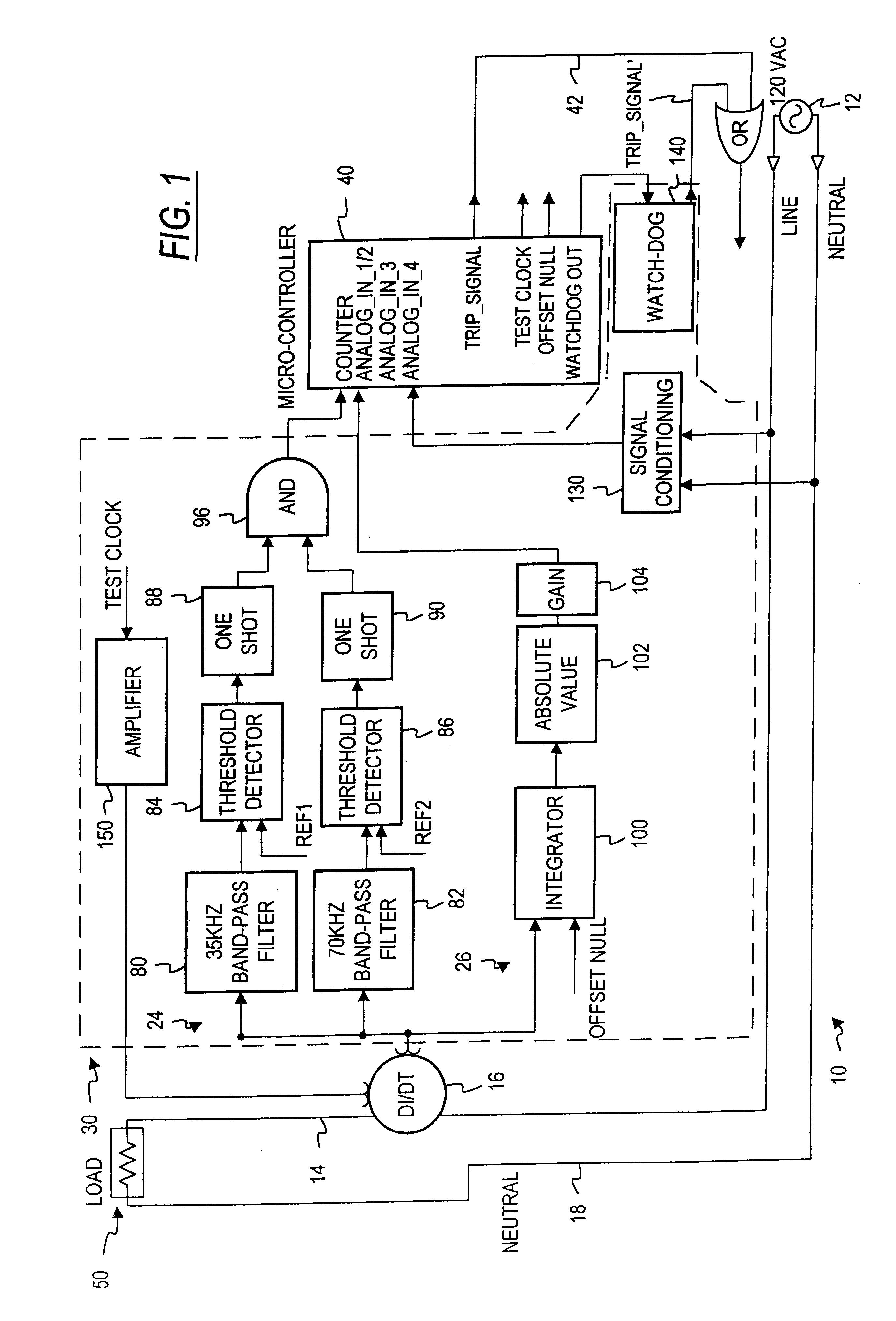 patent us6414829 - arc fault circuit interrupter