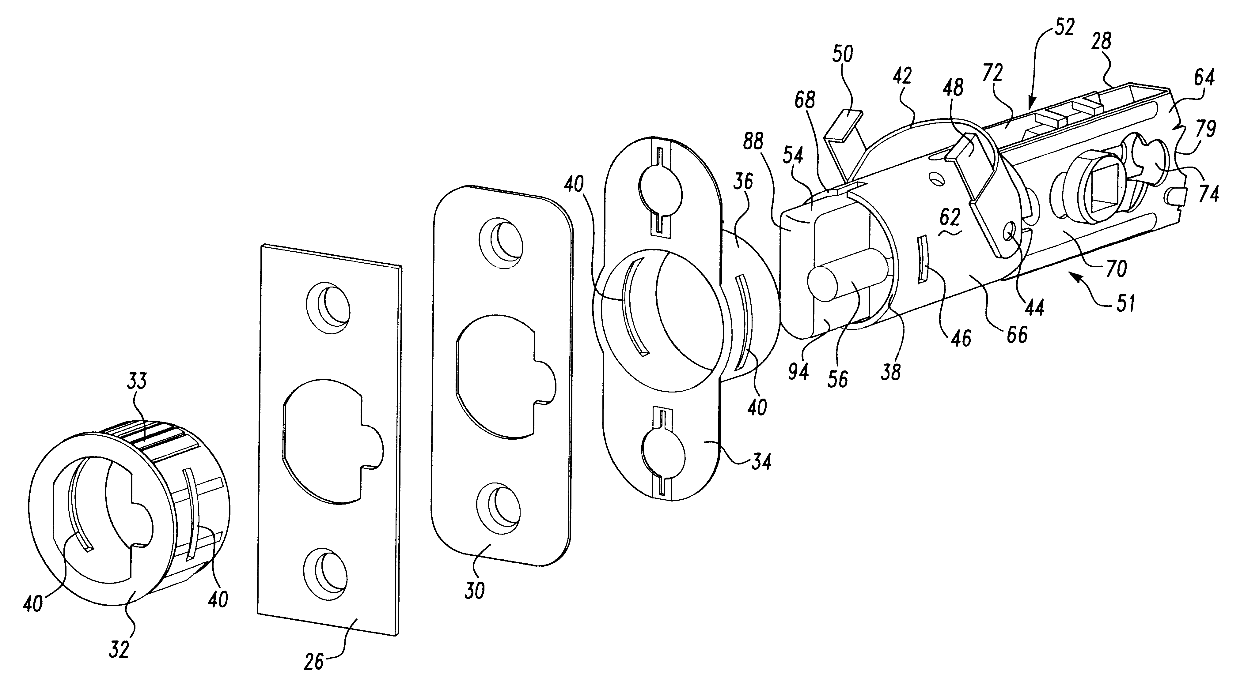 Patent Us6419288 Door Latch Assembly With Accelerated