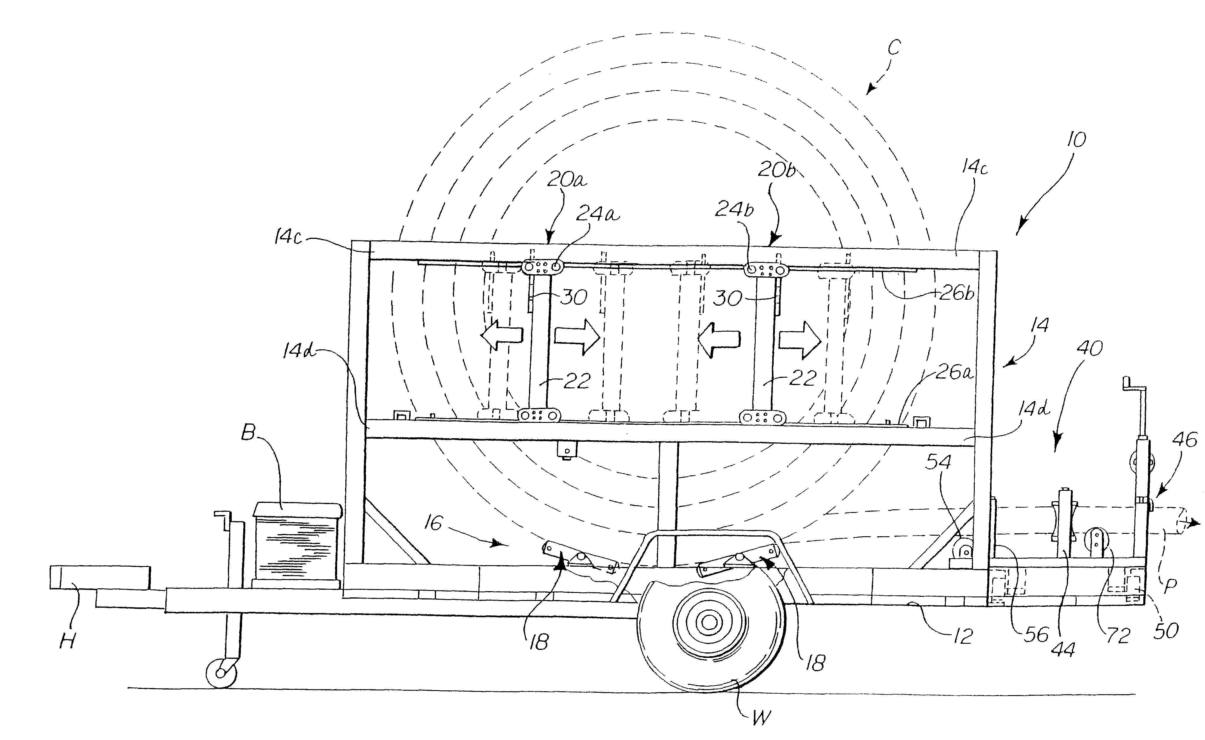 patent us6419424 - coil pipe trailer