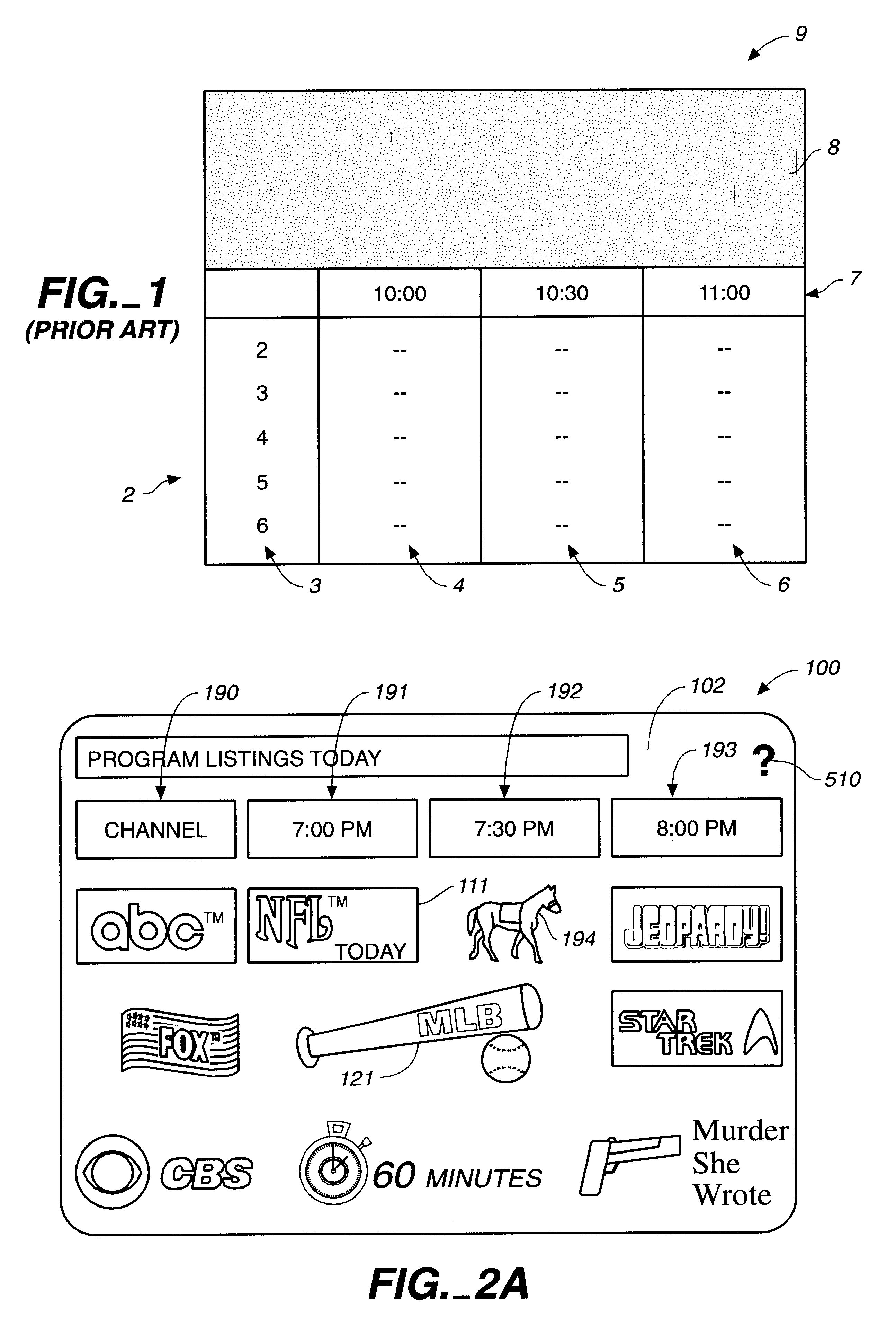 patent us electronic programming guide google patents