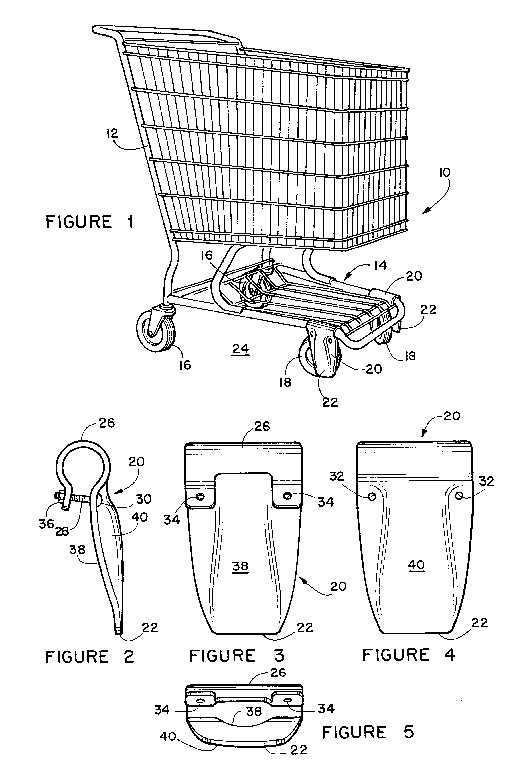 专利us6422580 - shopping
