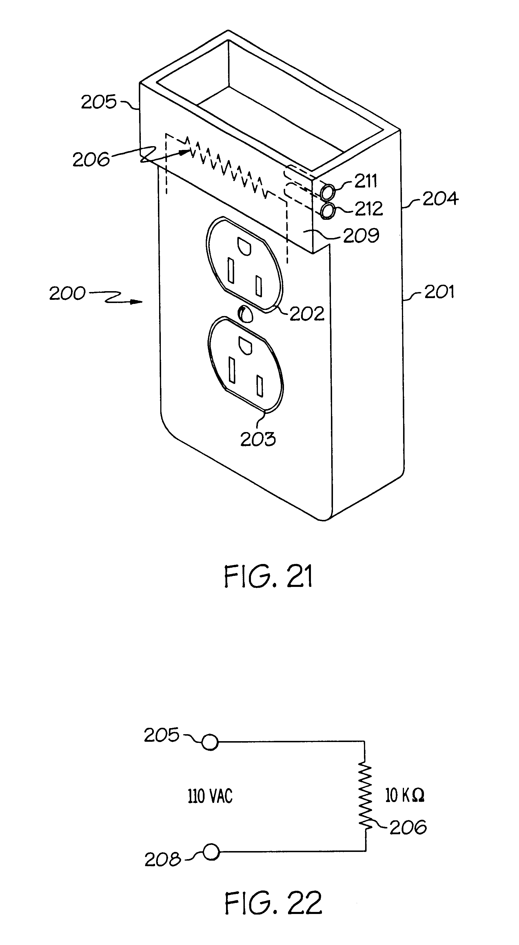 Patent US6423900 Active cover plate for an electrical outlet – Diagram Of Wire A Leviton 5225