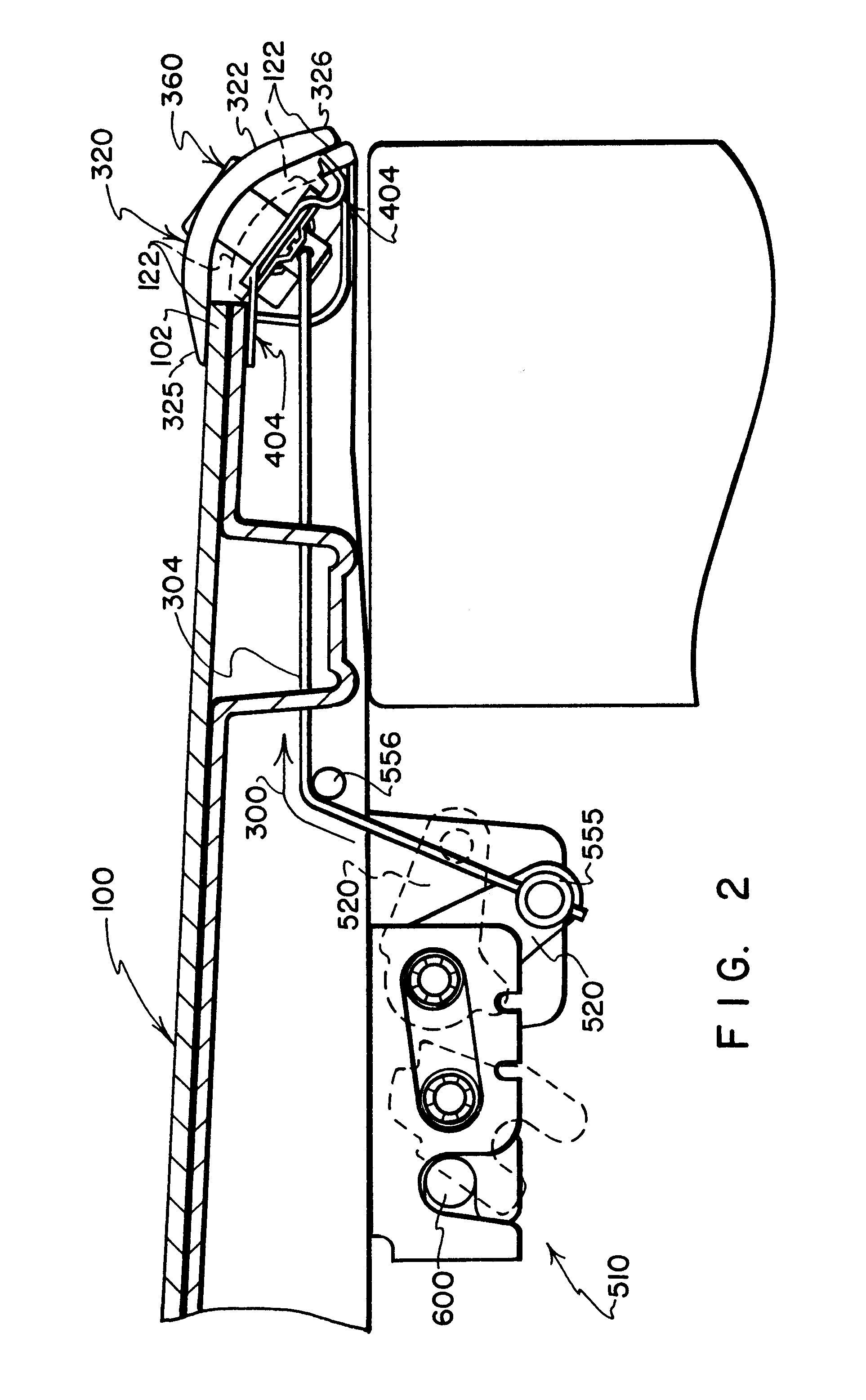 Flexible Cable Latch System : Patent us latch lock and hinge system for use