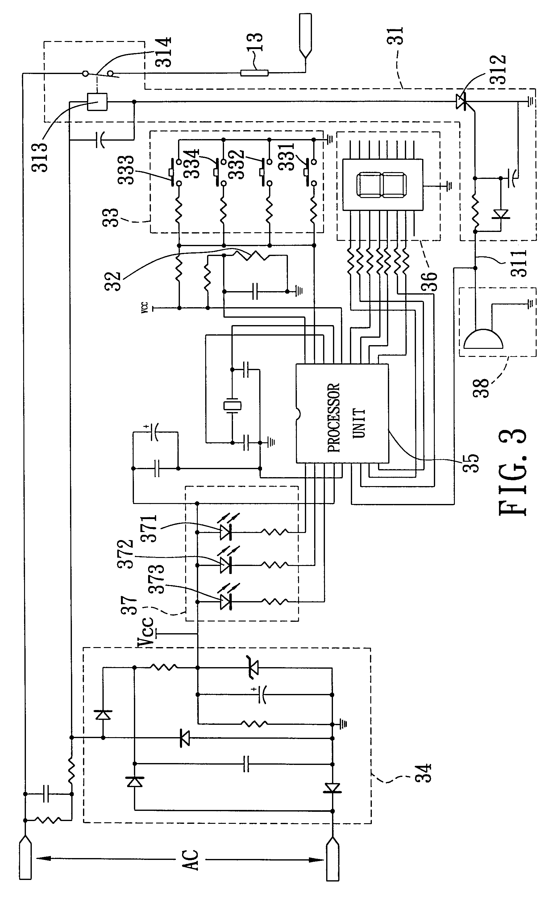 US06427581 20020806 D00003 patent us6427581 waffle maker with cooking temperature control temperature control wiring diagram at cita.asia