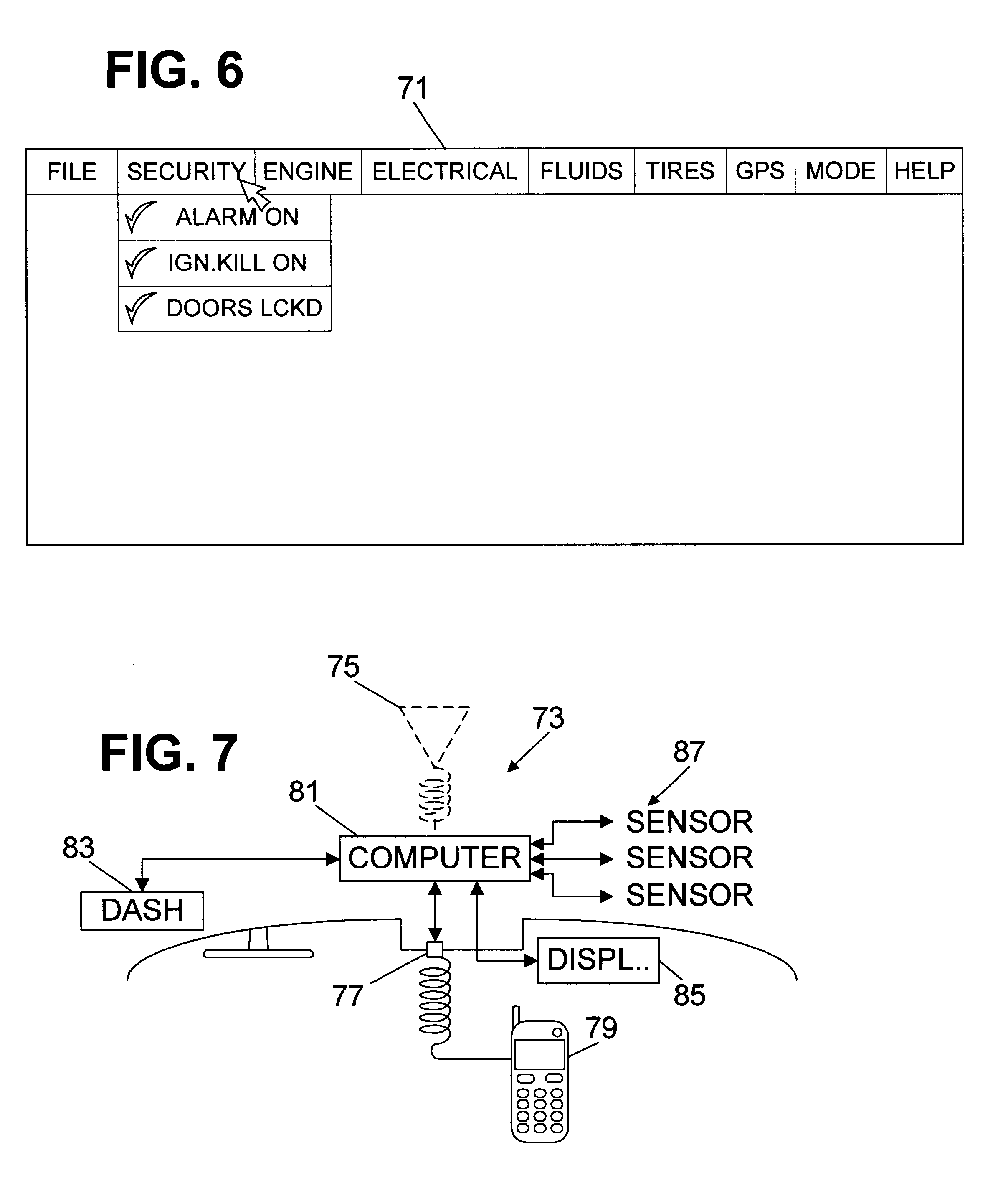 Patent US System For Remotely Communicating With A - Car signs on dashboardrobert jacek google