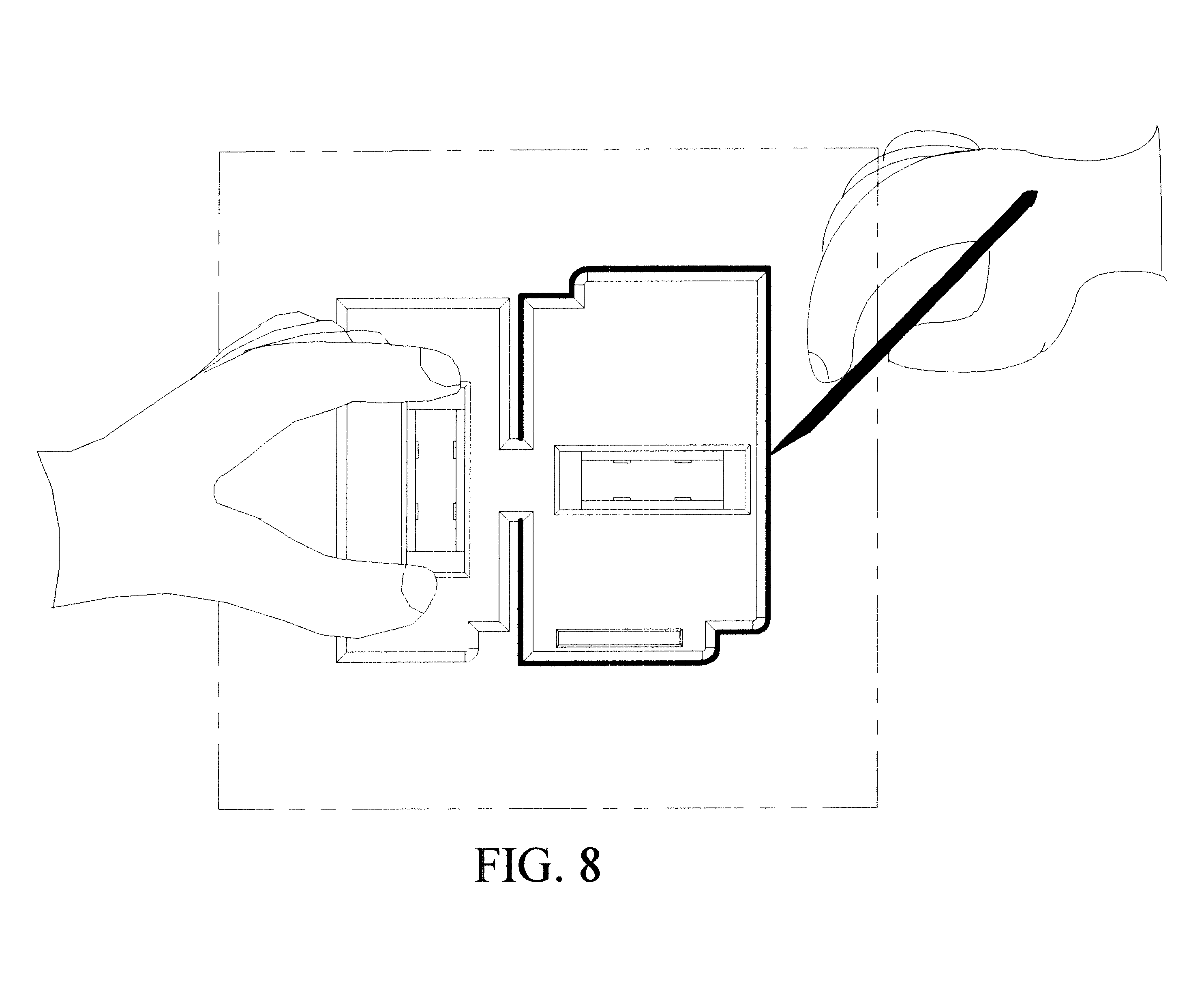 patent us6434848 template for scribbing electrical box With old work box template