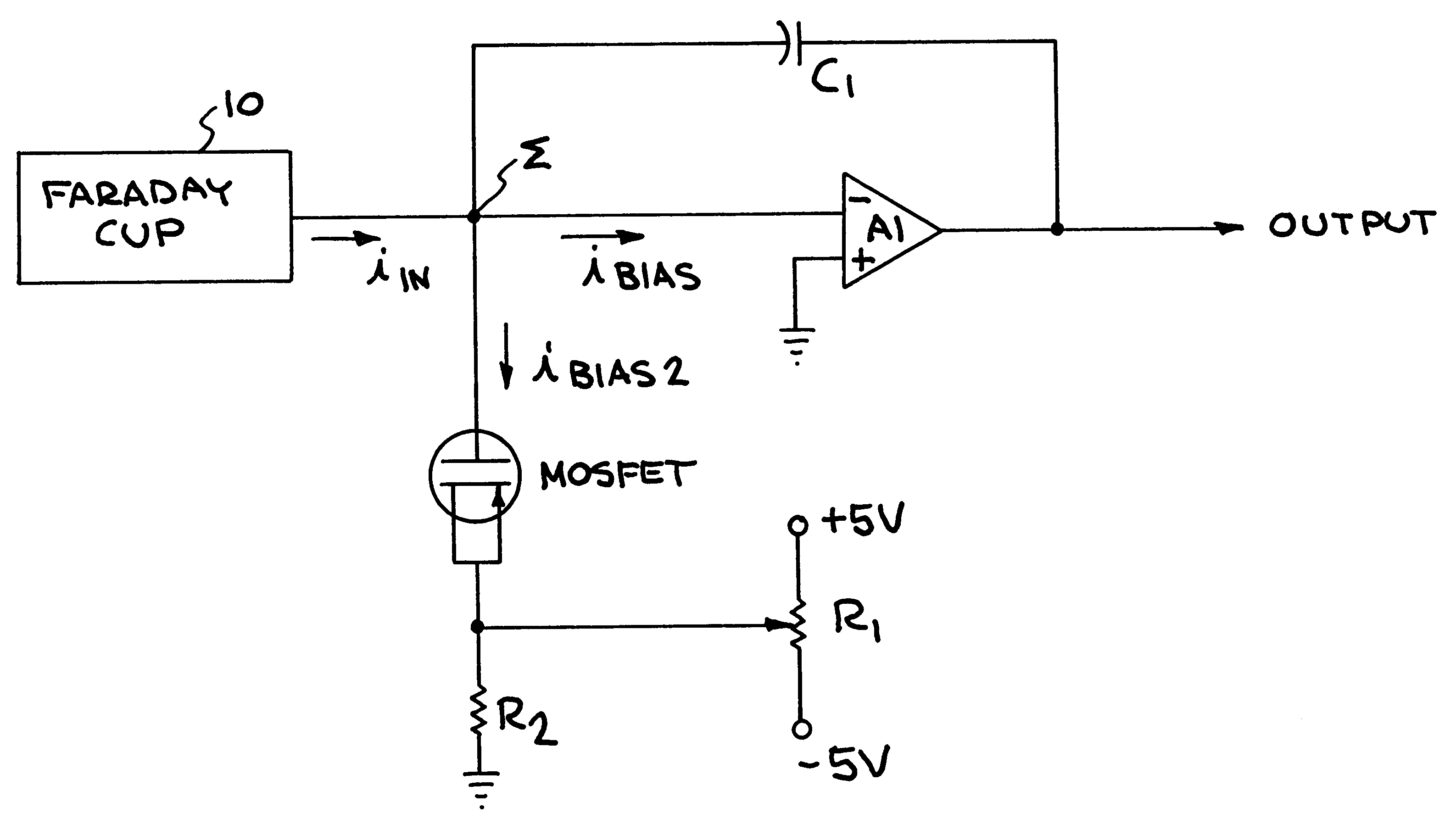 Patent Us6437342 Charge Amplifier With Bias Compensation Google Transistor Biasing Example Drawing