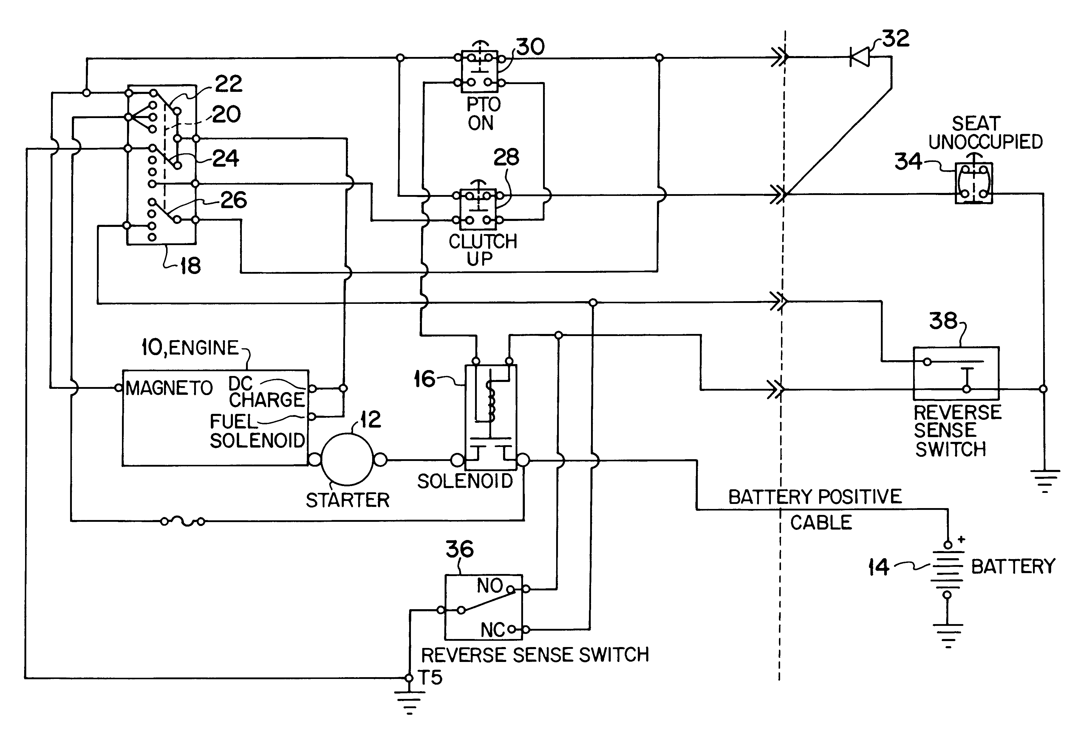 US06437458 20020820 D00000 patent us6437458 engine control circuit for a lawn tractor delta systems ignition switch wiring diagram at alyssarenee.co