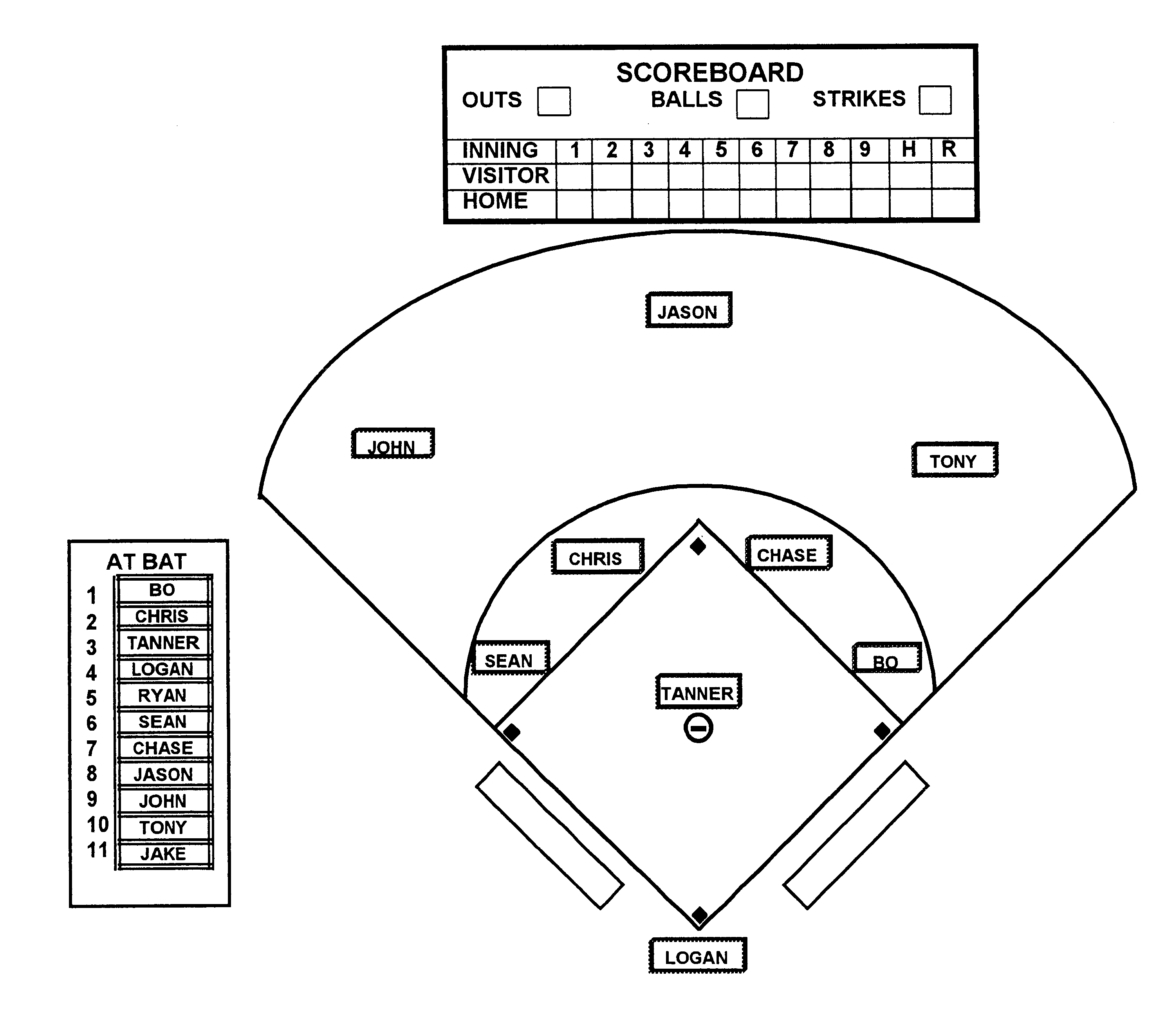 Pop Fly Responsibility moreover Baseball Field Diagrams furthermore US6439572 likewise Dimbase in addition Default. on baseball infield diagram