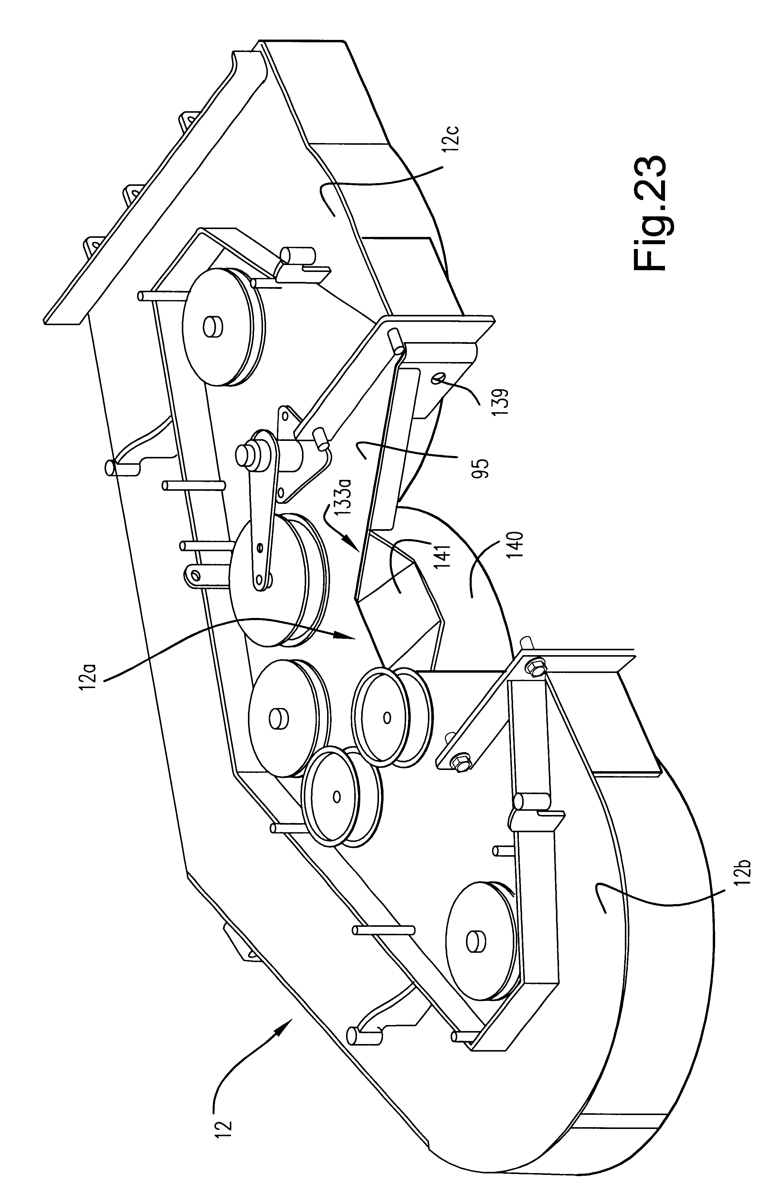 Patent US6442917 - Power lawn mower including deck lift system ...