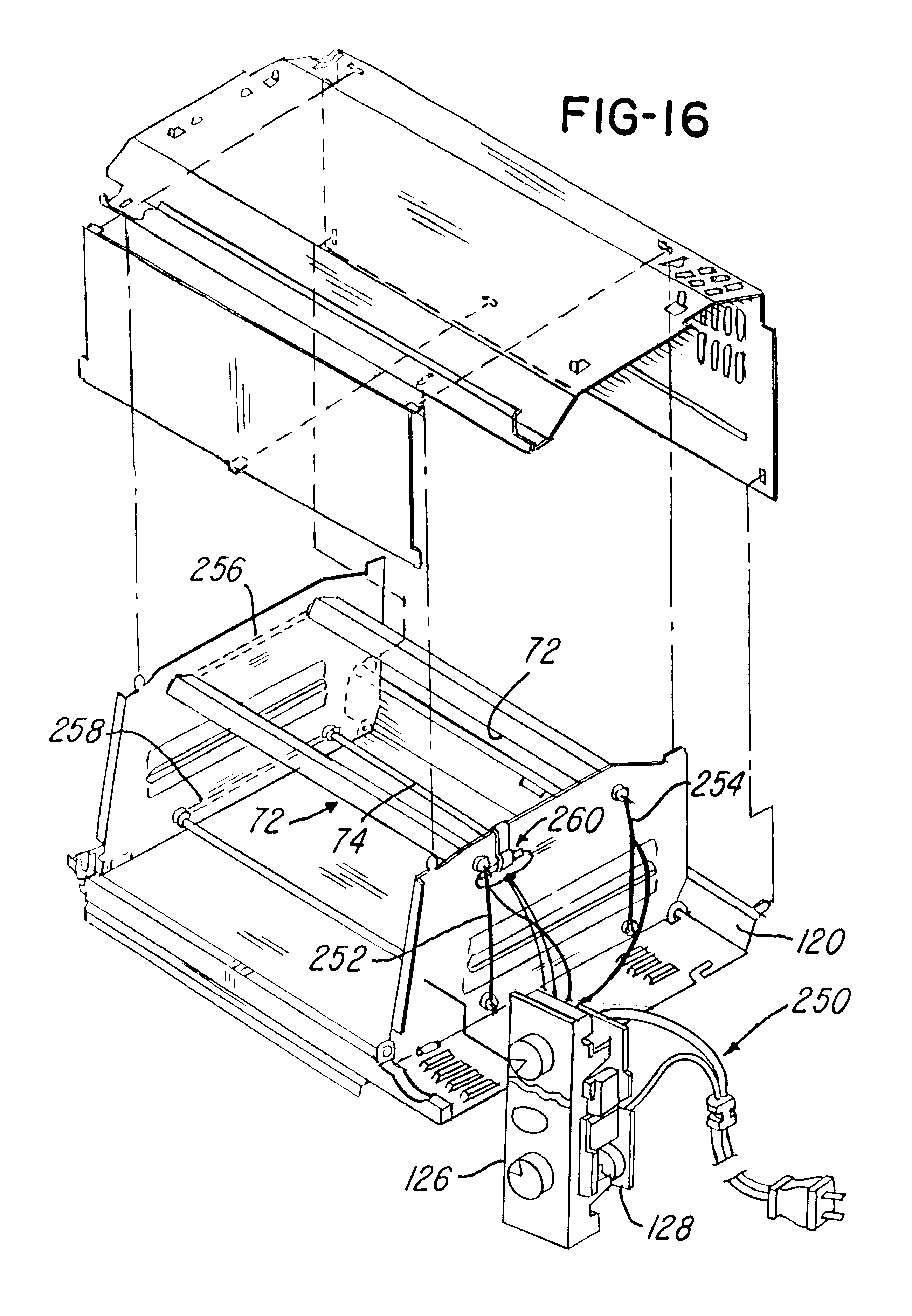 patent us6444954 toaster ovens google patents patent drawing