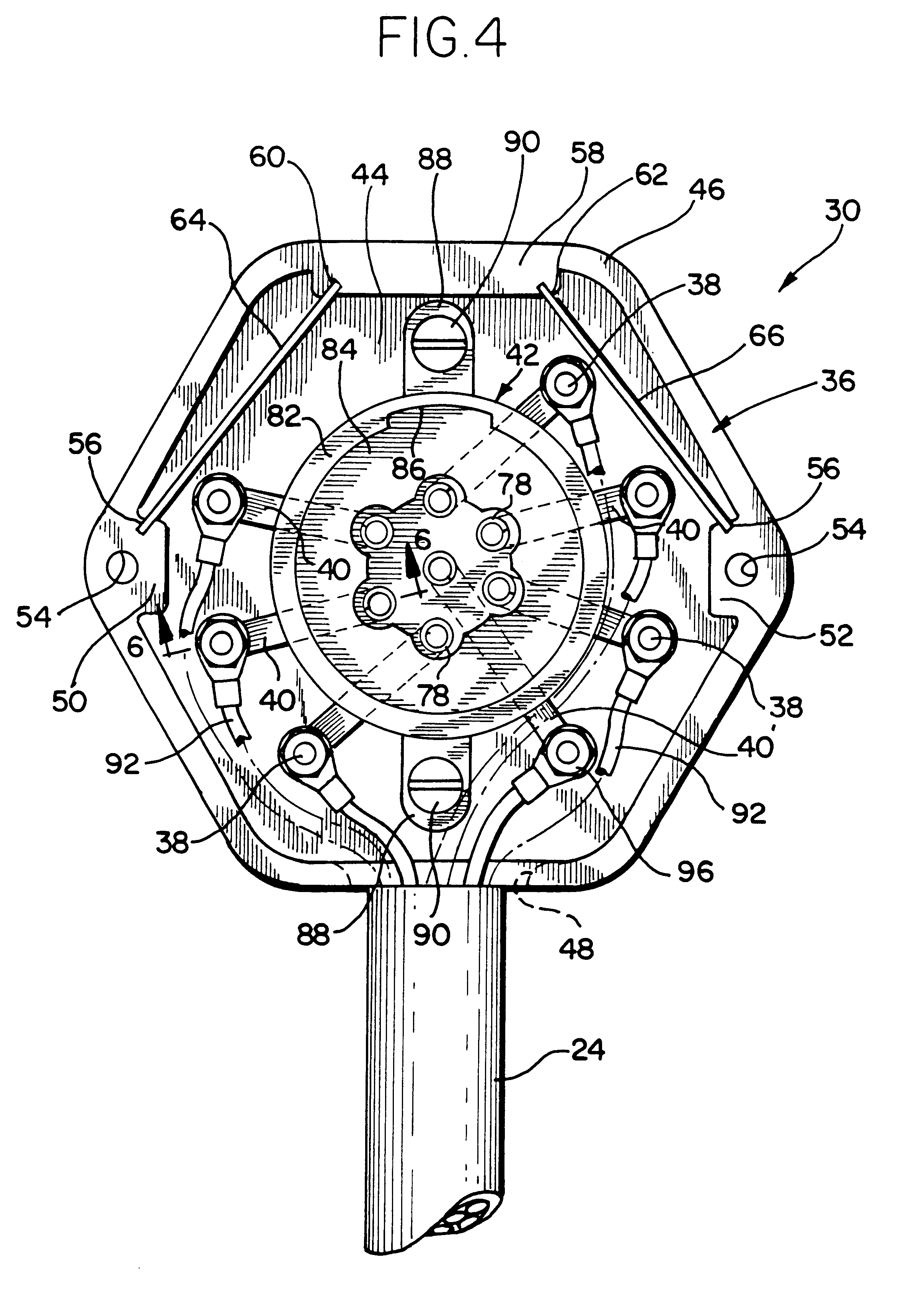 patent us6450833 - seven-way trailer connector