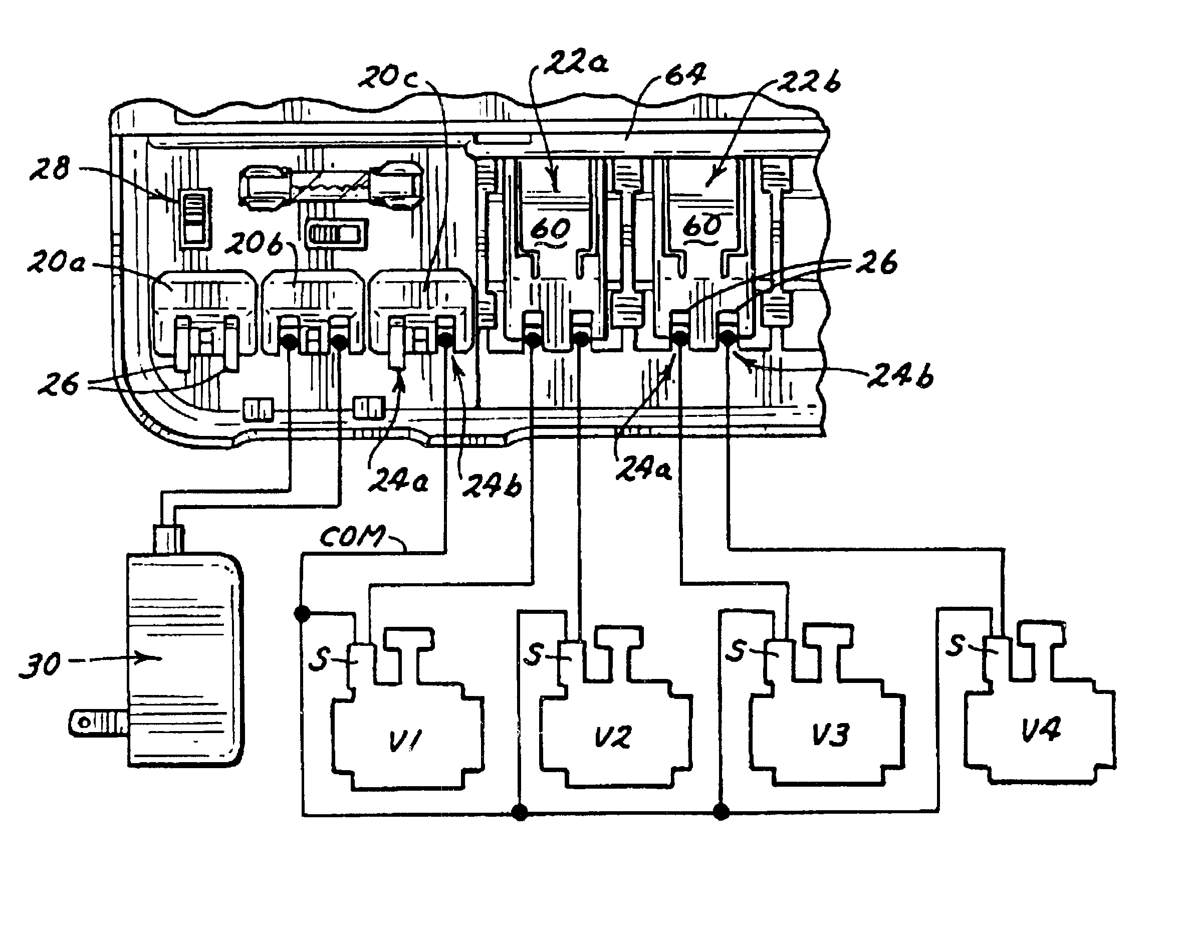 US06459959 20021001 D00000 patent us6459959 irrigation controller with removable station wiring diagram toro sprinkler control at crackthecode.co