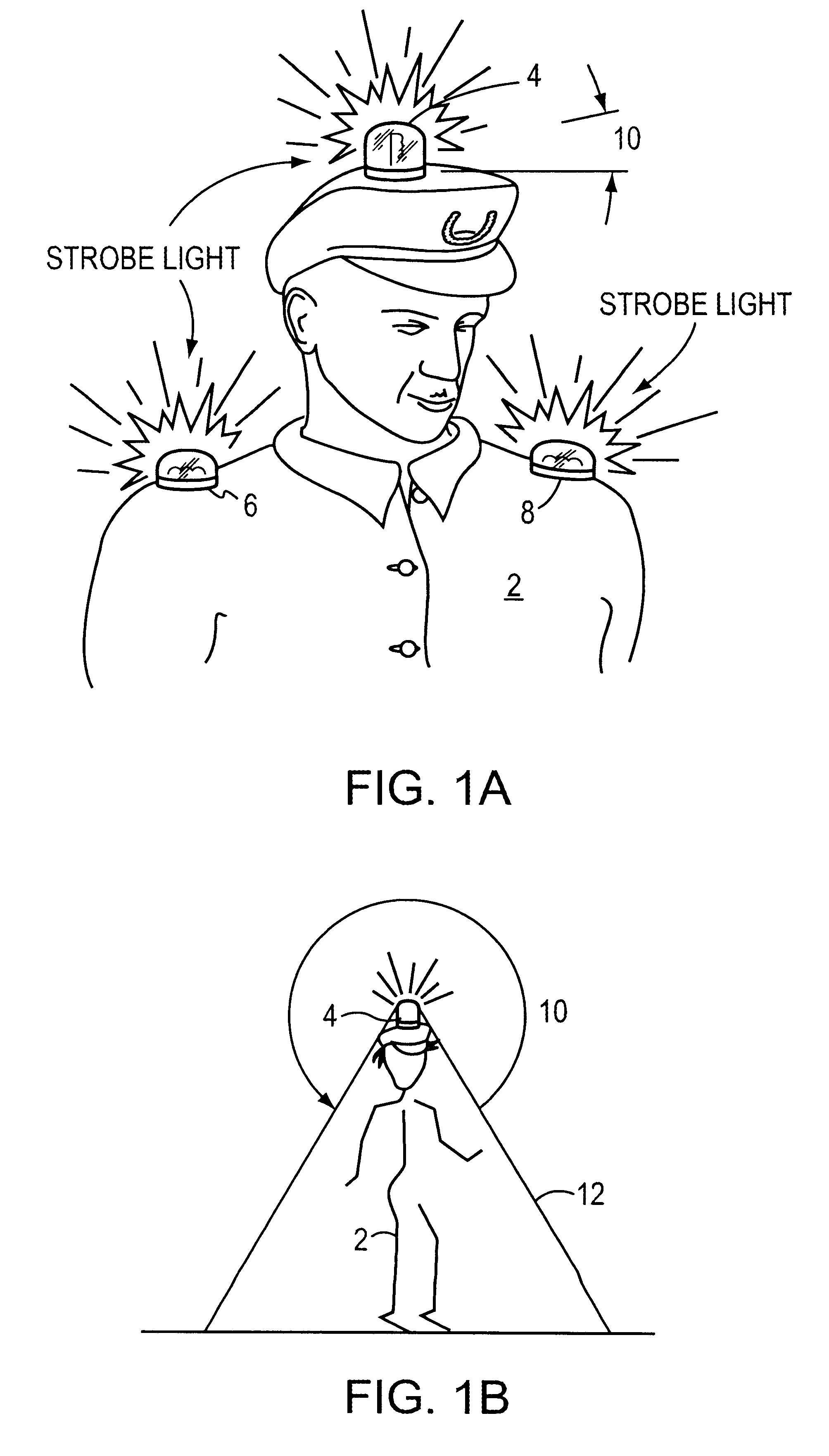 patent us6461015 - portable wearable strobe light