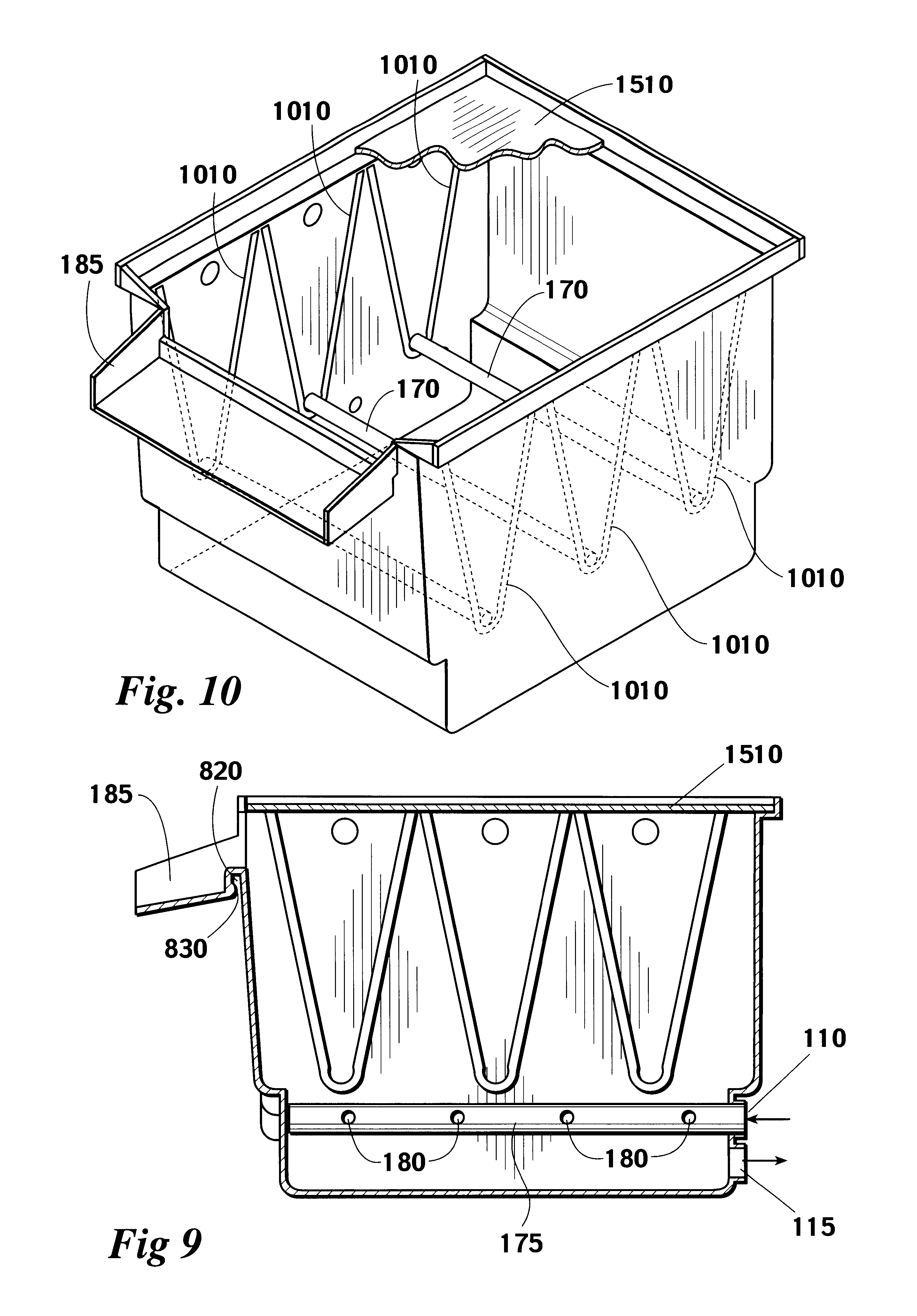 Patent us6461501 ornamental pond skimmer and filter for Ornamental pond filters