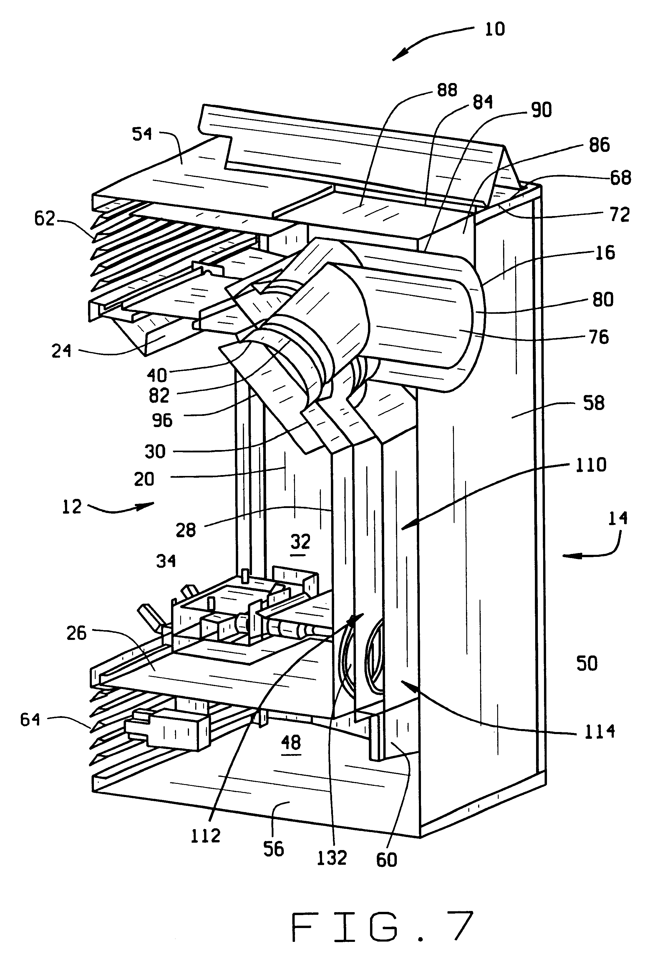patent us6463926 direct vent fireplace with baffled directional