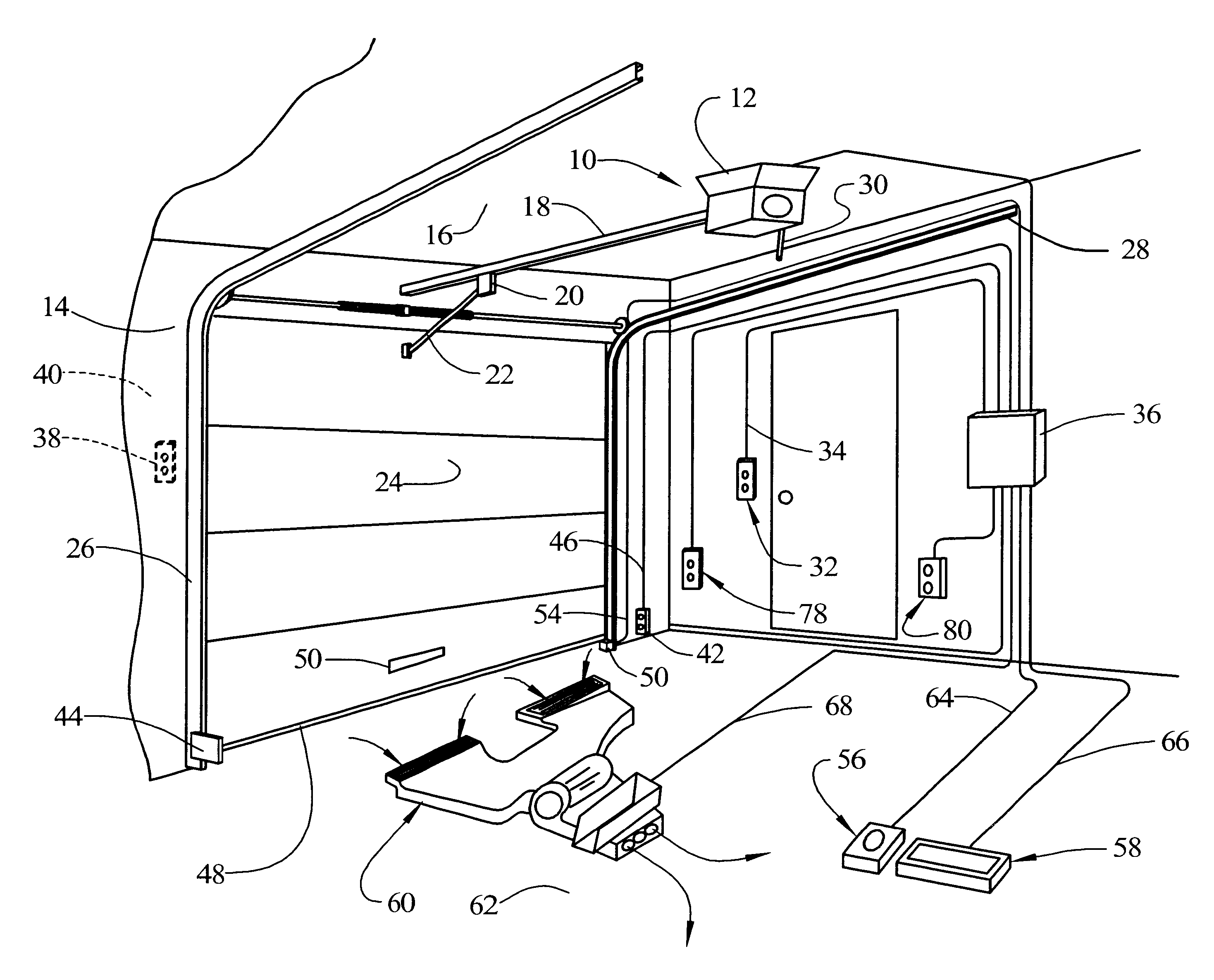 Patent Us6469464 Automatic Safety Garage Door Closer
