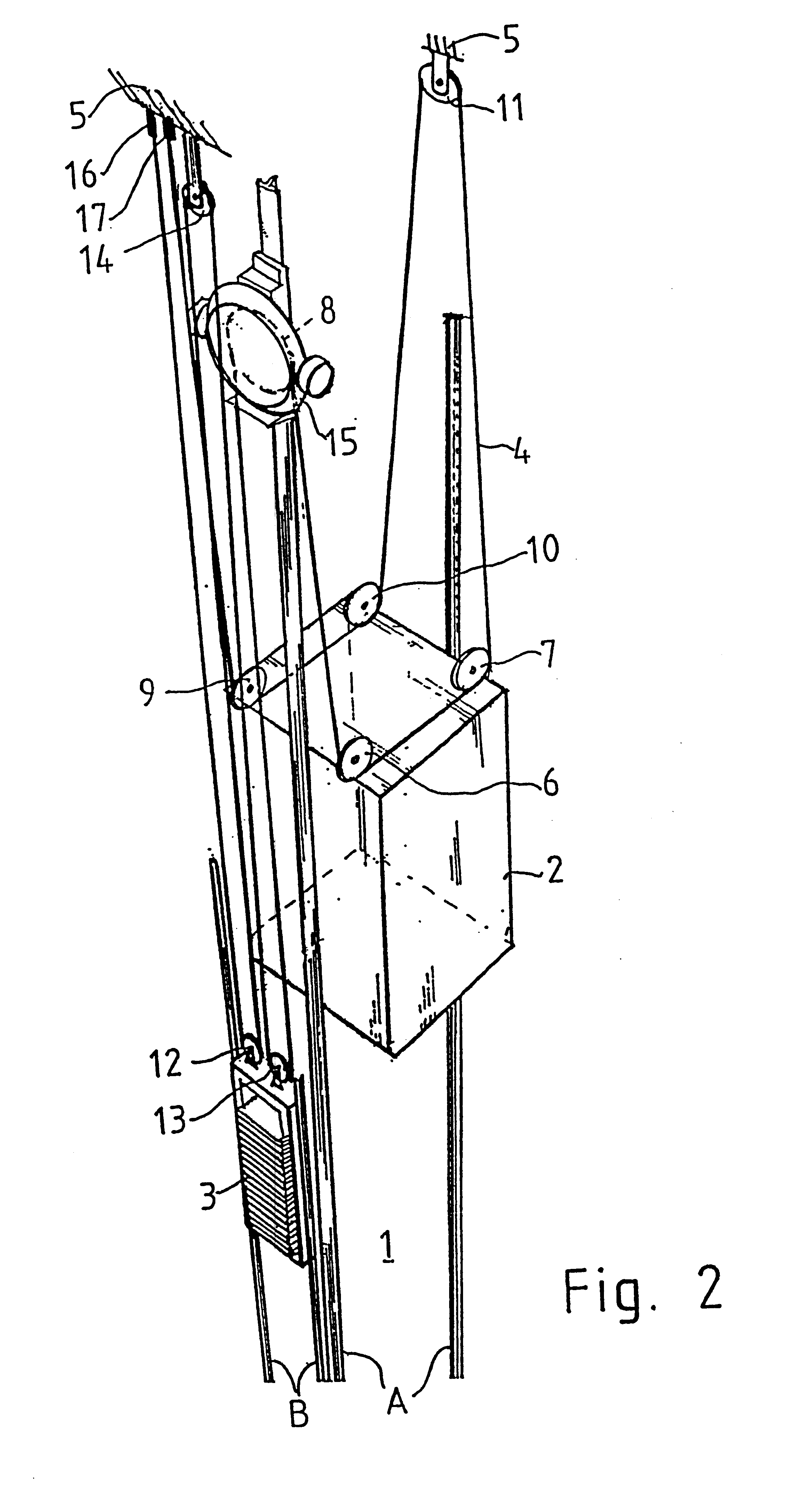 Rope And Pulley Elevator : Patent us pulley system for a traction sheave