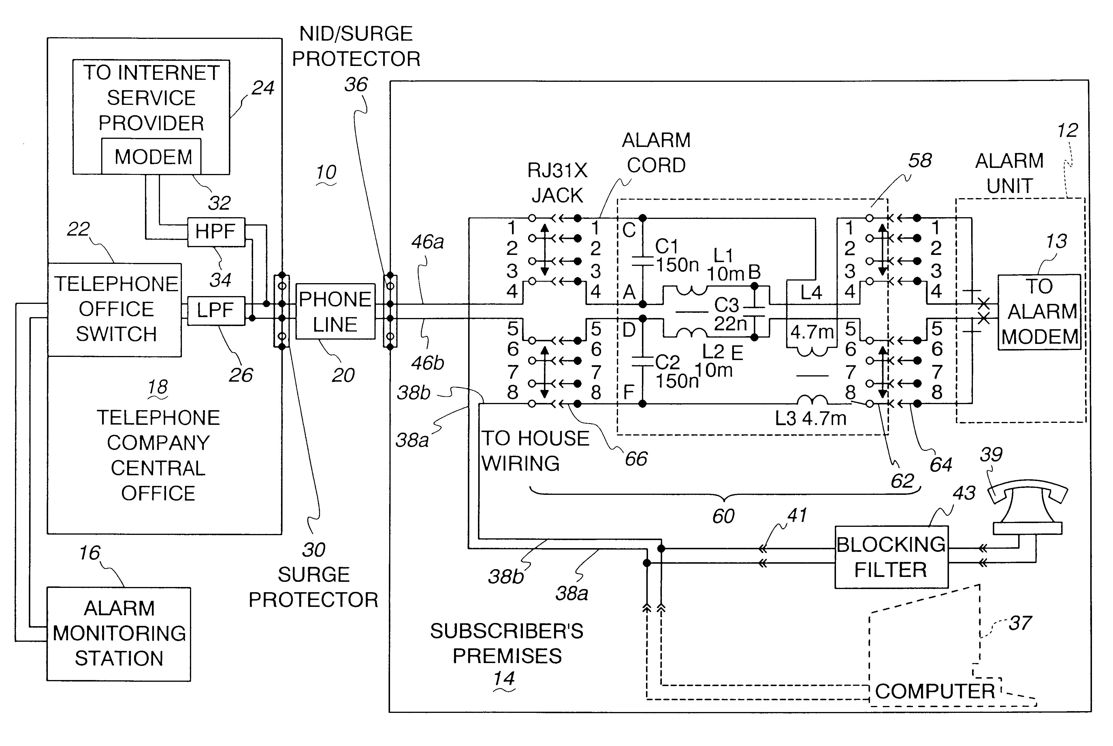 patent us6472992 - alarm filter circuit