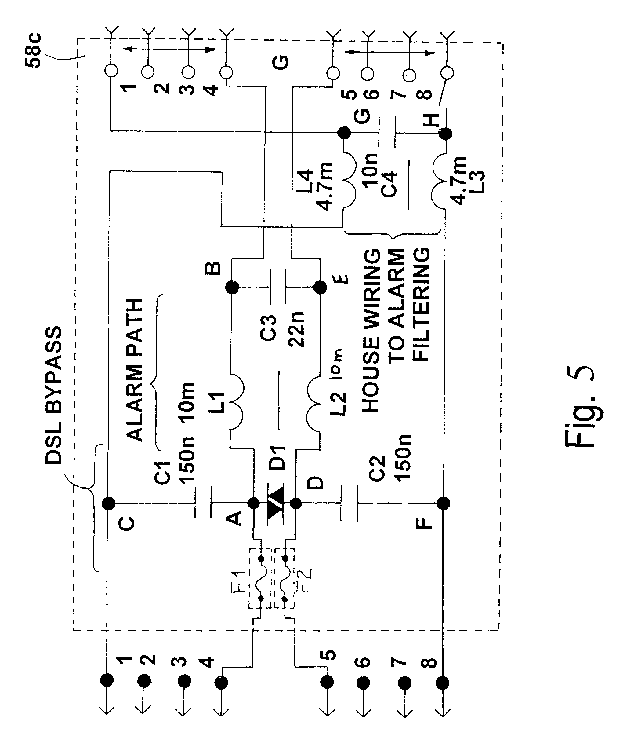 patent us6472992 - alarm filter circuit