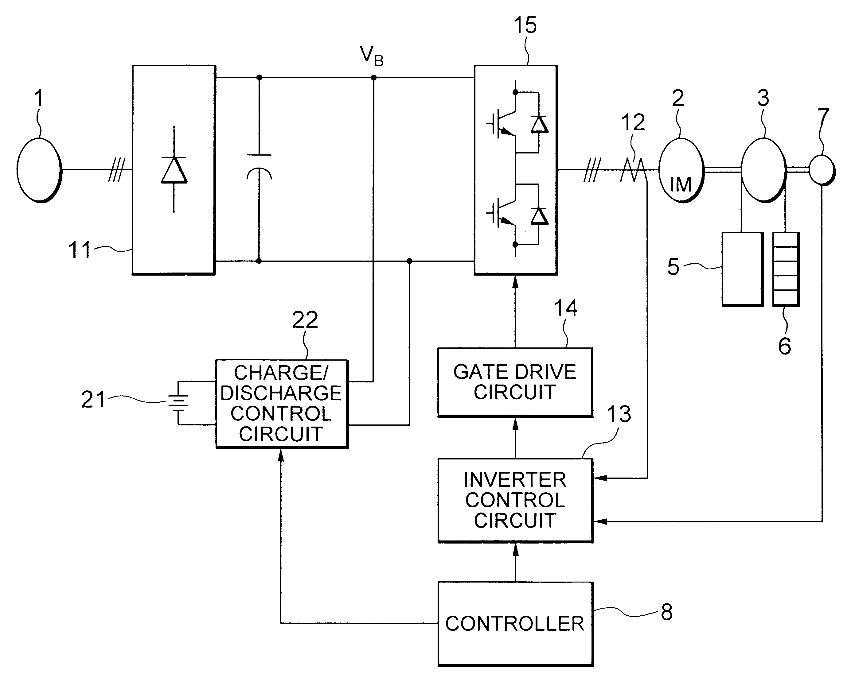 Patent Us6474447 Elevator Power Control For Adjusting Ratio Of Controller Circuit Drawing