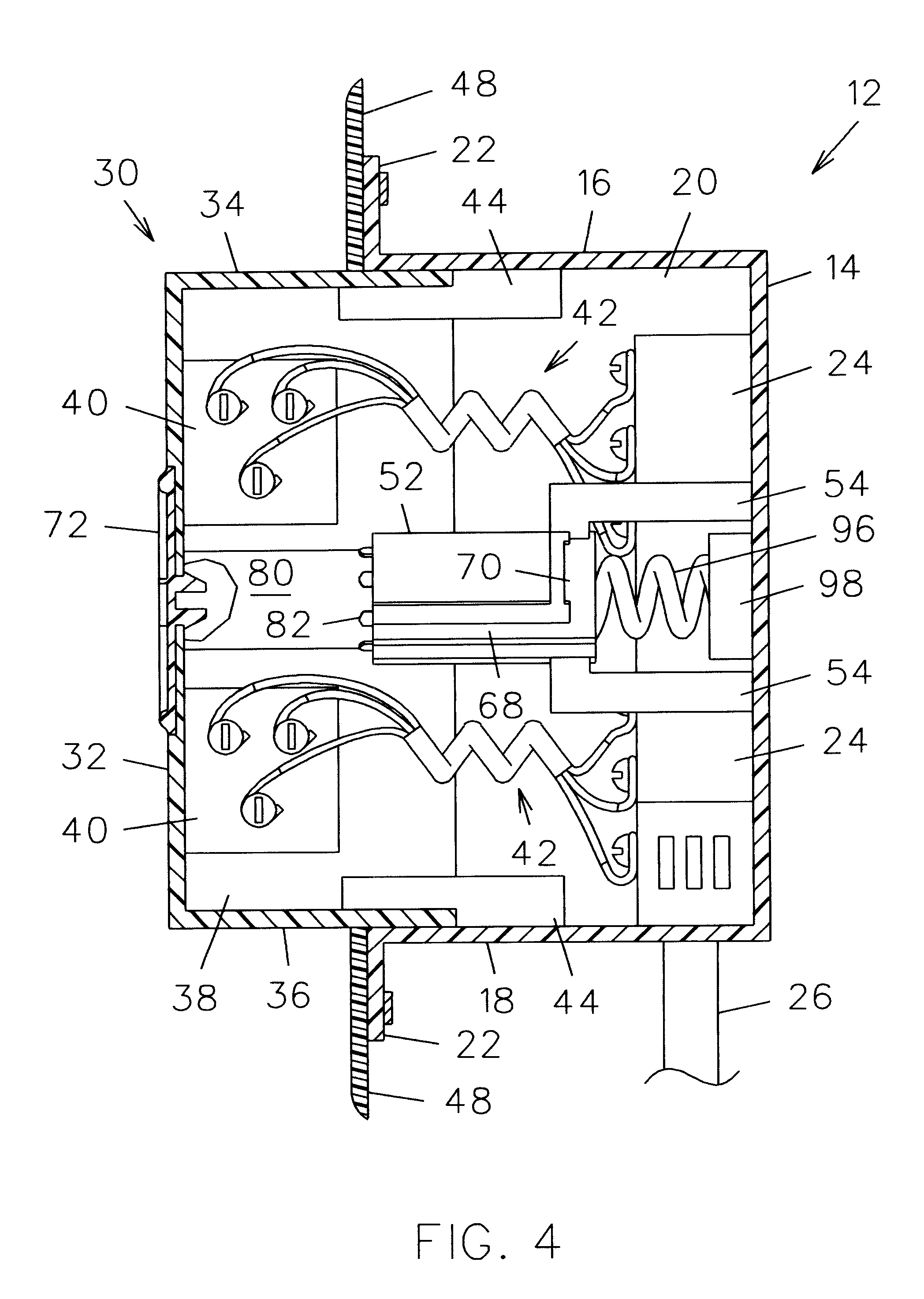 Patent US6478587 - Retractable electric wall outlet assembly ...