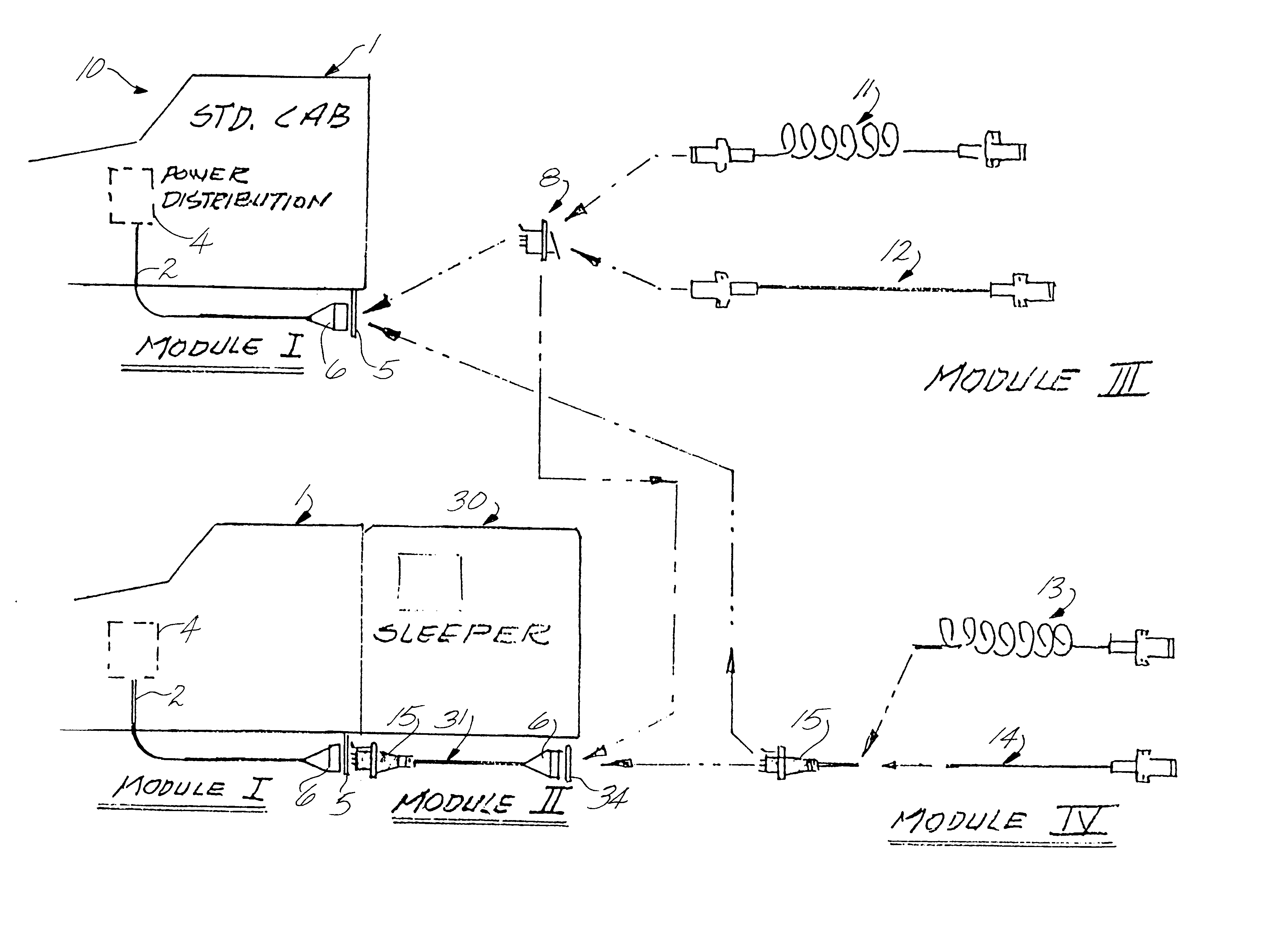 patent us6483200 electrical cable system for truck tractor cabs patent drawing
