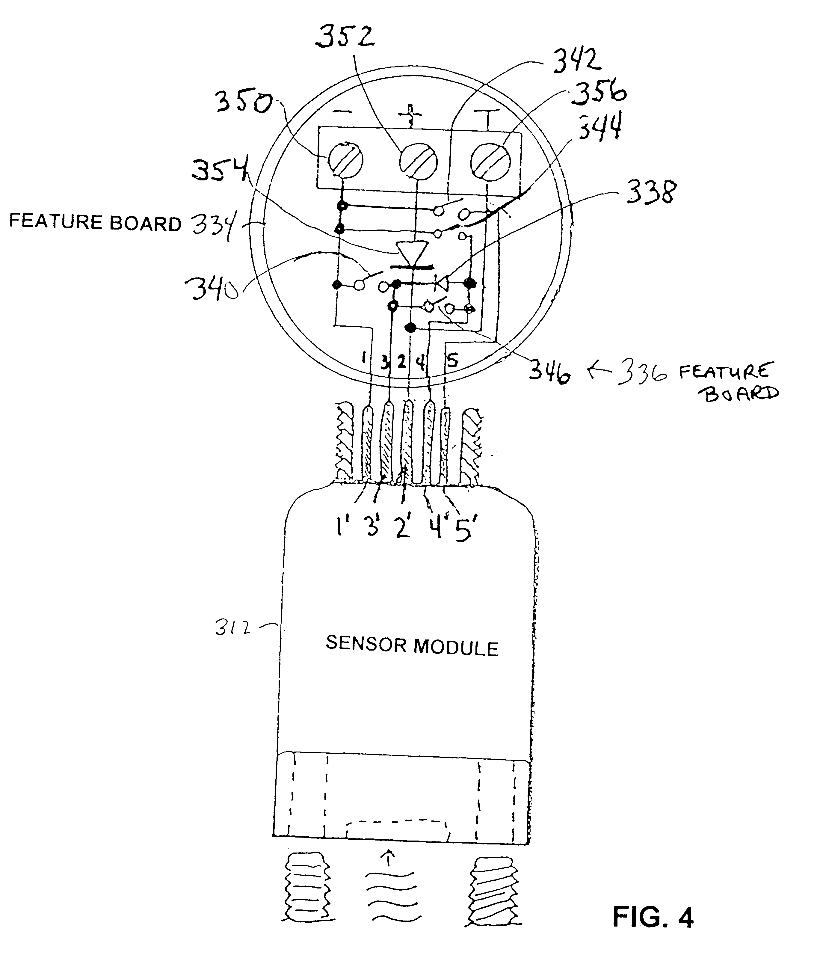 patent us6484107 selectable on off logic modes for a sensor patent drawing